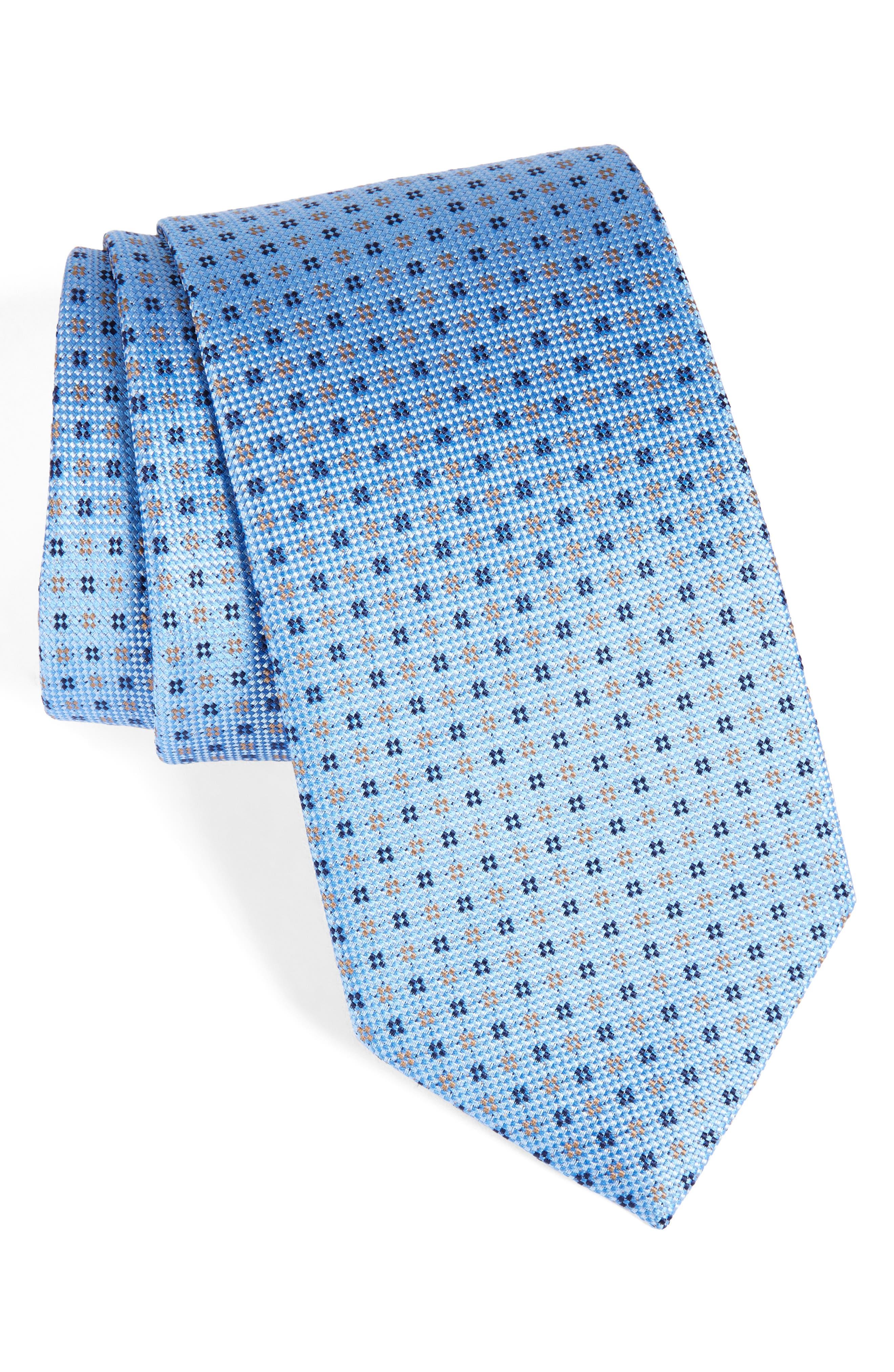 Neat Silk Tie,                         Main,                         color, 400
