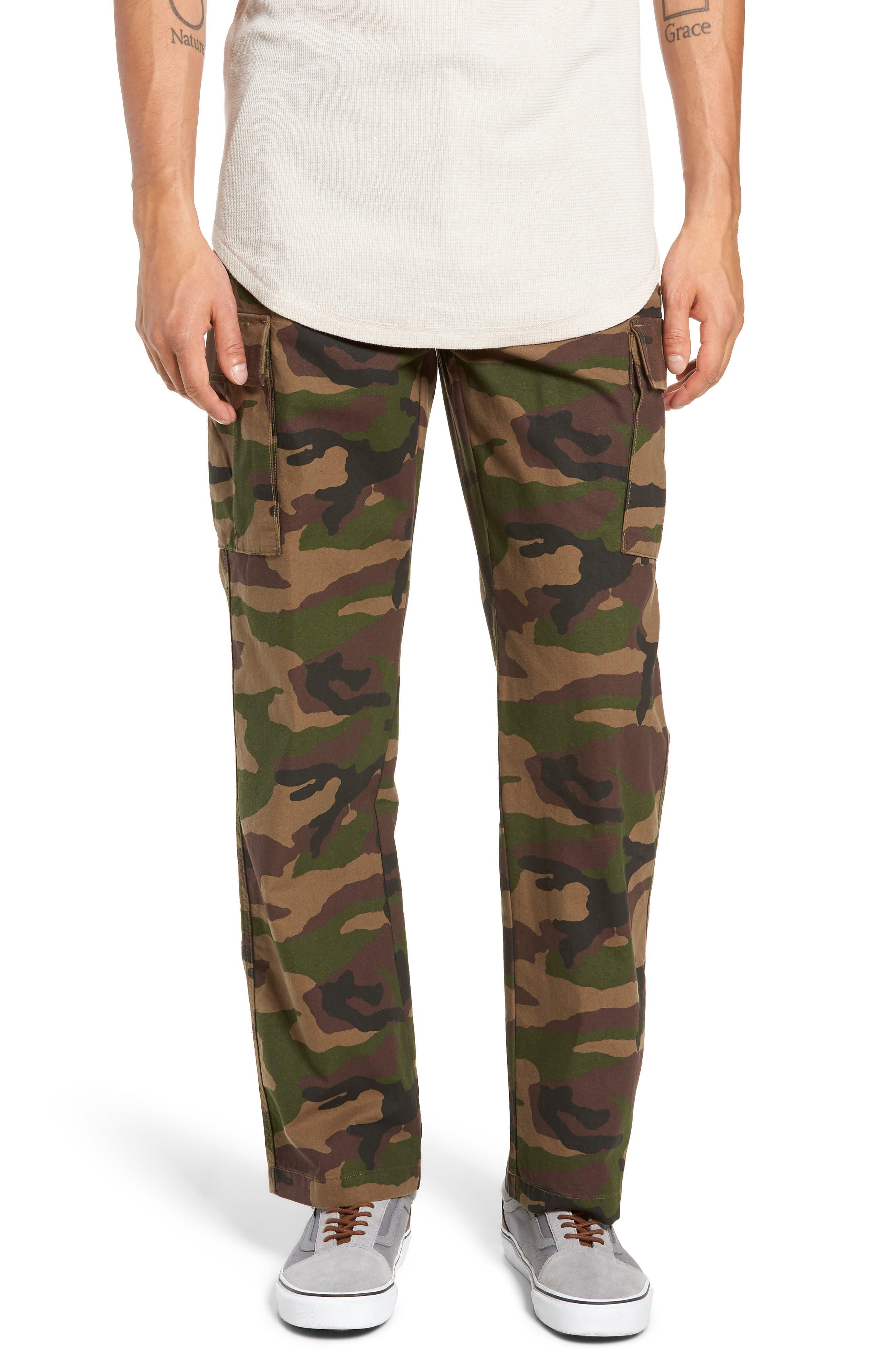 Draft Regular Fit Cargo Pants,                             Main thumbnail 1, color,                             CAMO