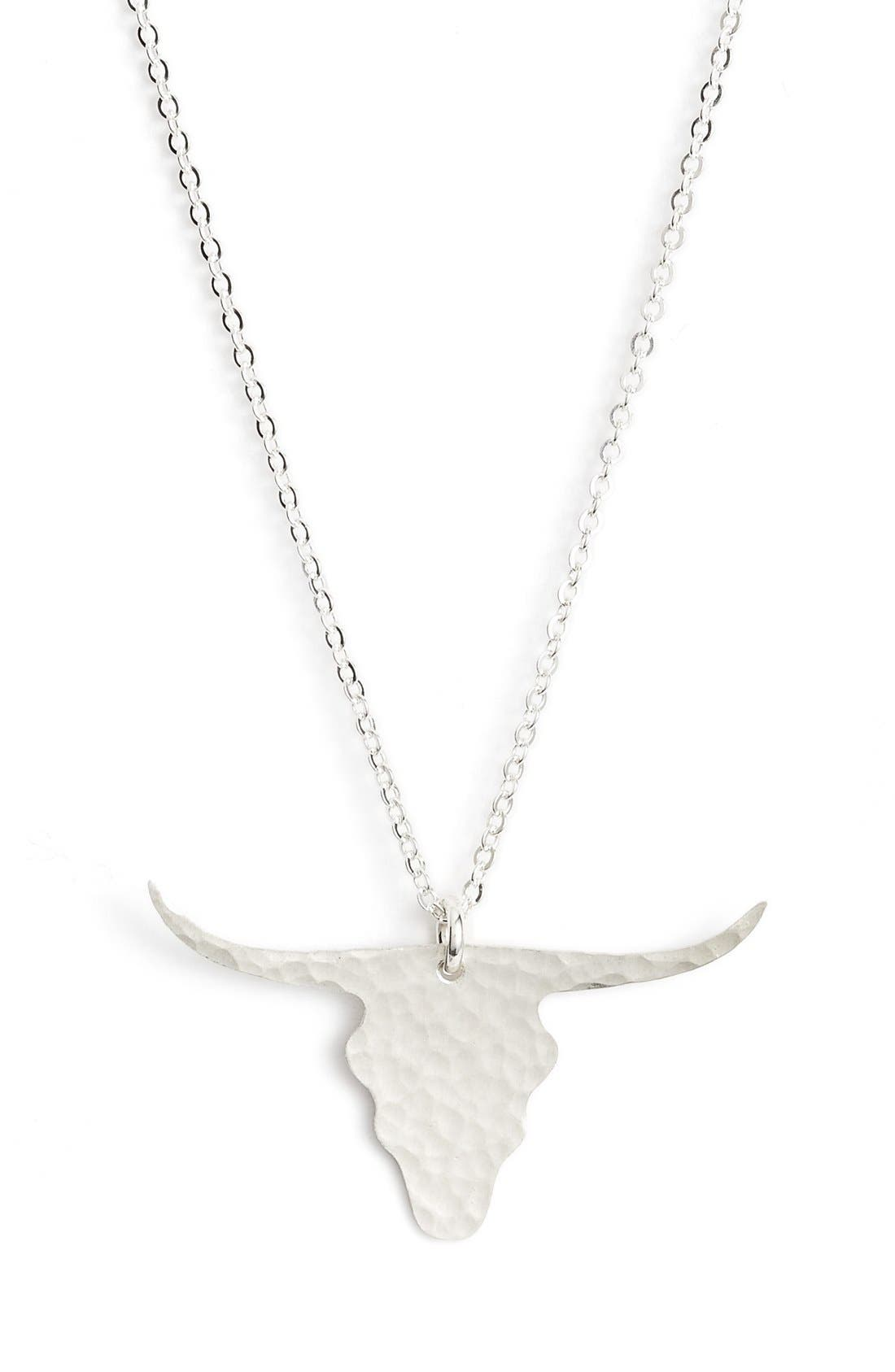 Longhorn Pendant Necklace,                             Alternate thumbnail 7, color,