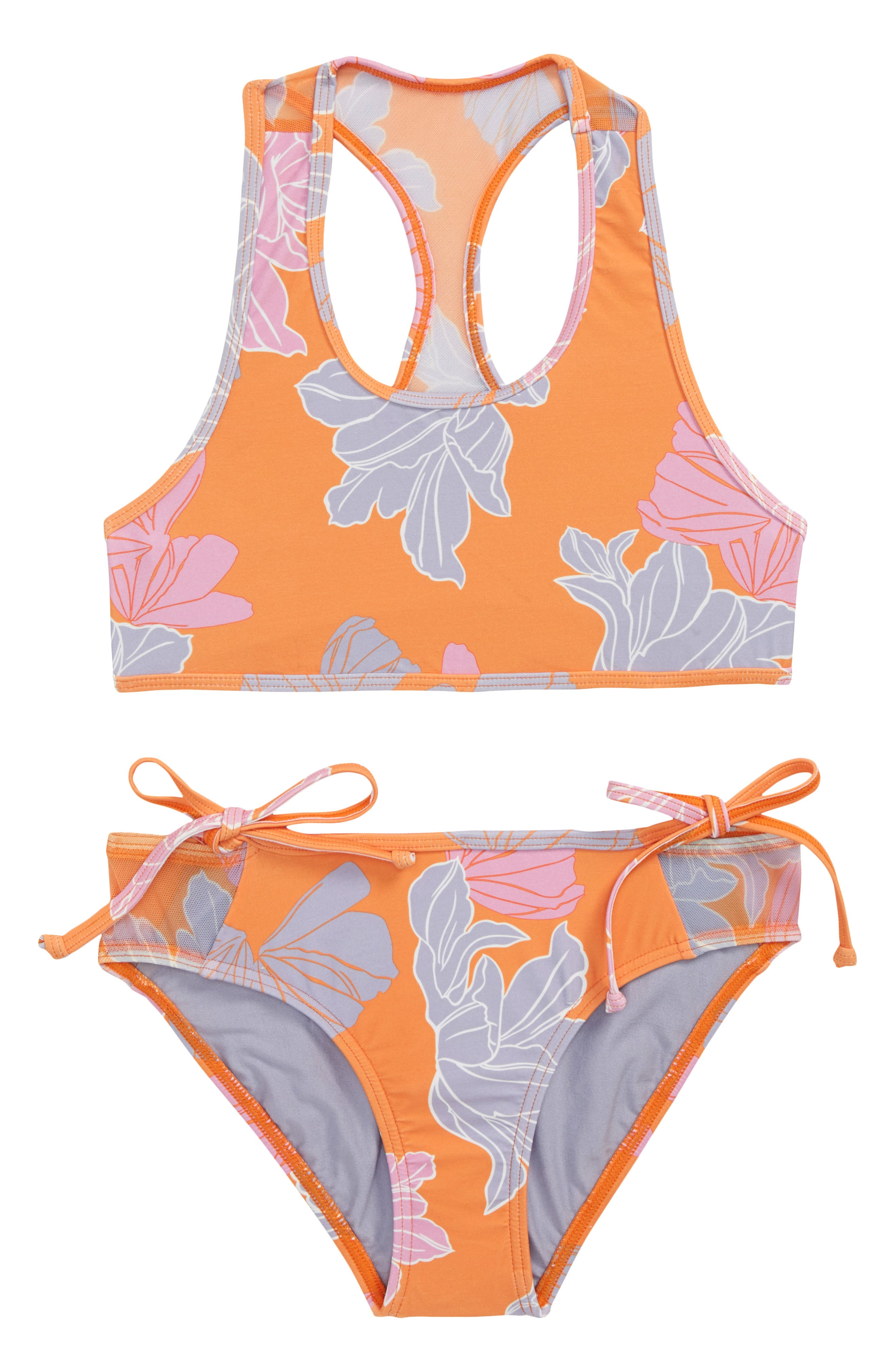 Zilla Floral Two-Piece Swimsuit,                             Main thumbnail 1, color,                             804