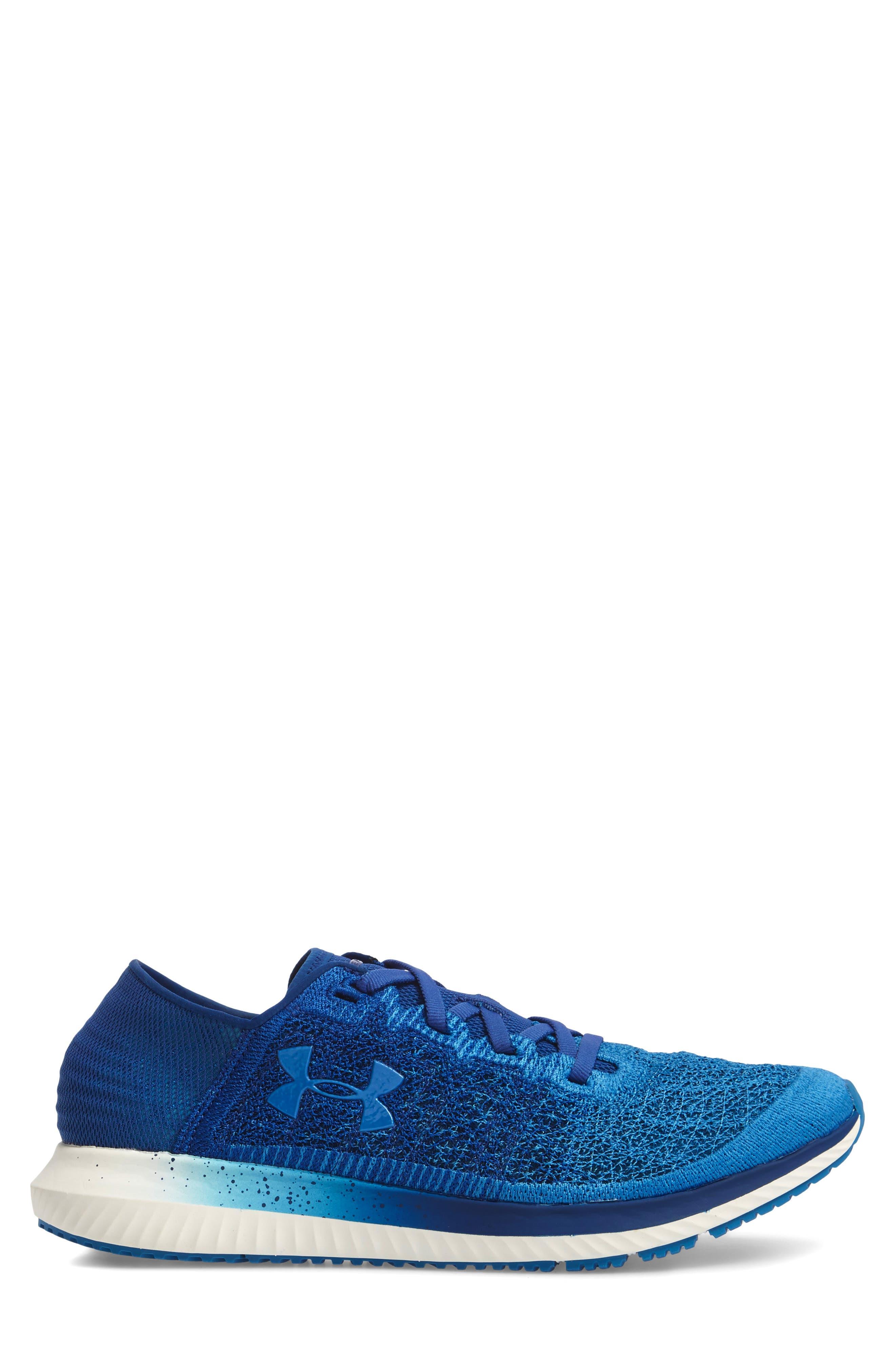 UNDER ARMOUR,                             Threadborne Blur Running Shoe,                             Alternate thumbnail 3, color,                             400