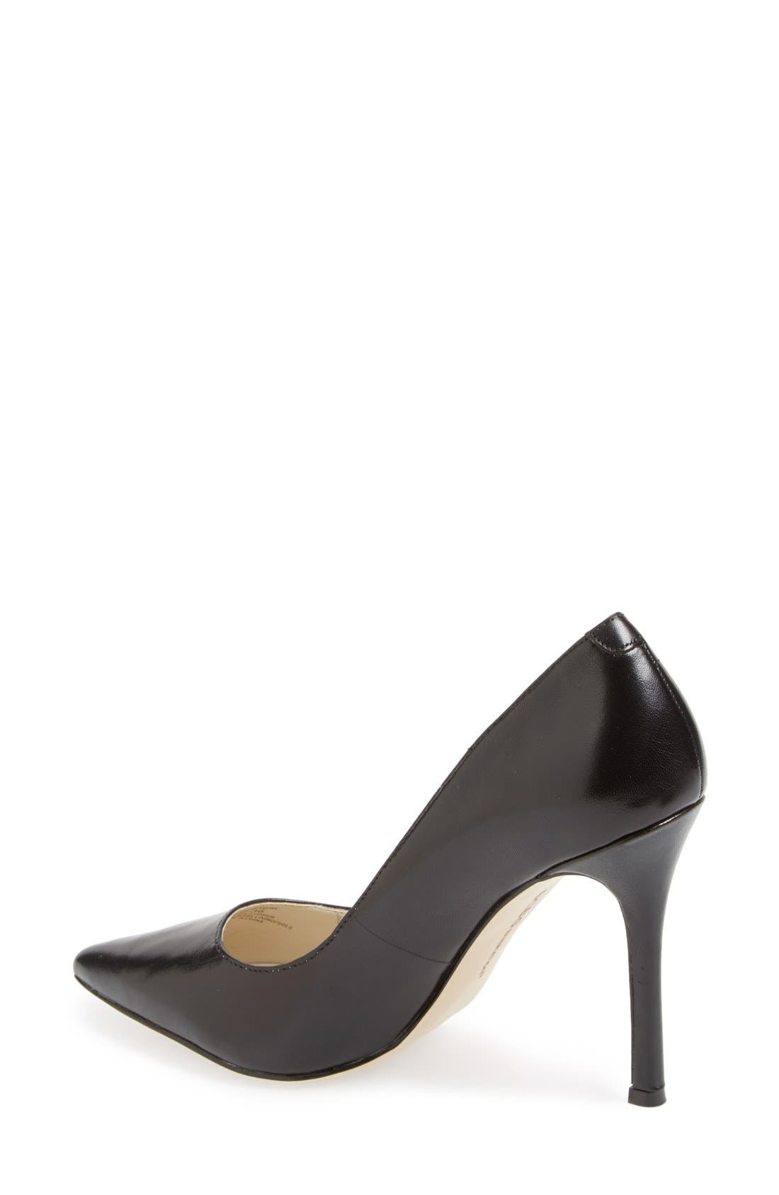 'Treasure' Pointy Toe Pump,                             Alternate thumbnail 3, color,                             001