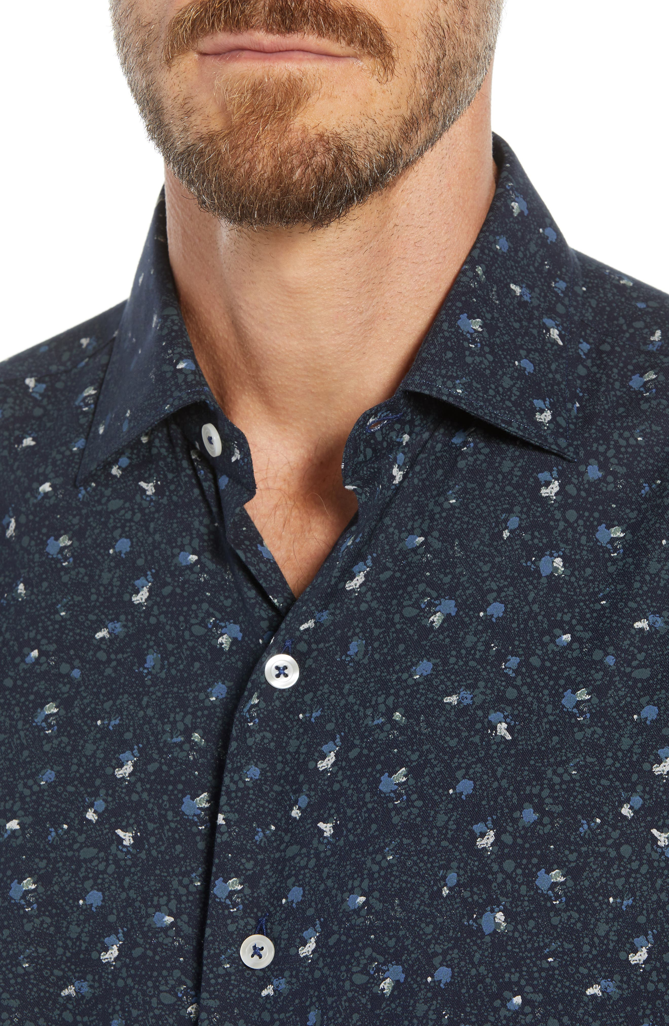 Tailored Fit Print Sport Shirt,                             Alternate thumbnail 2, color,                             400