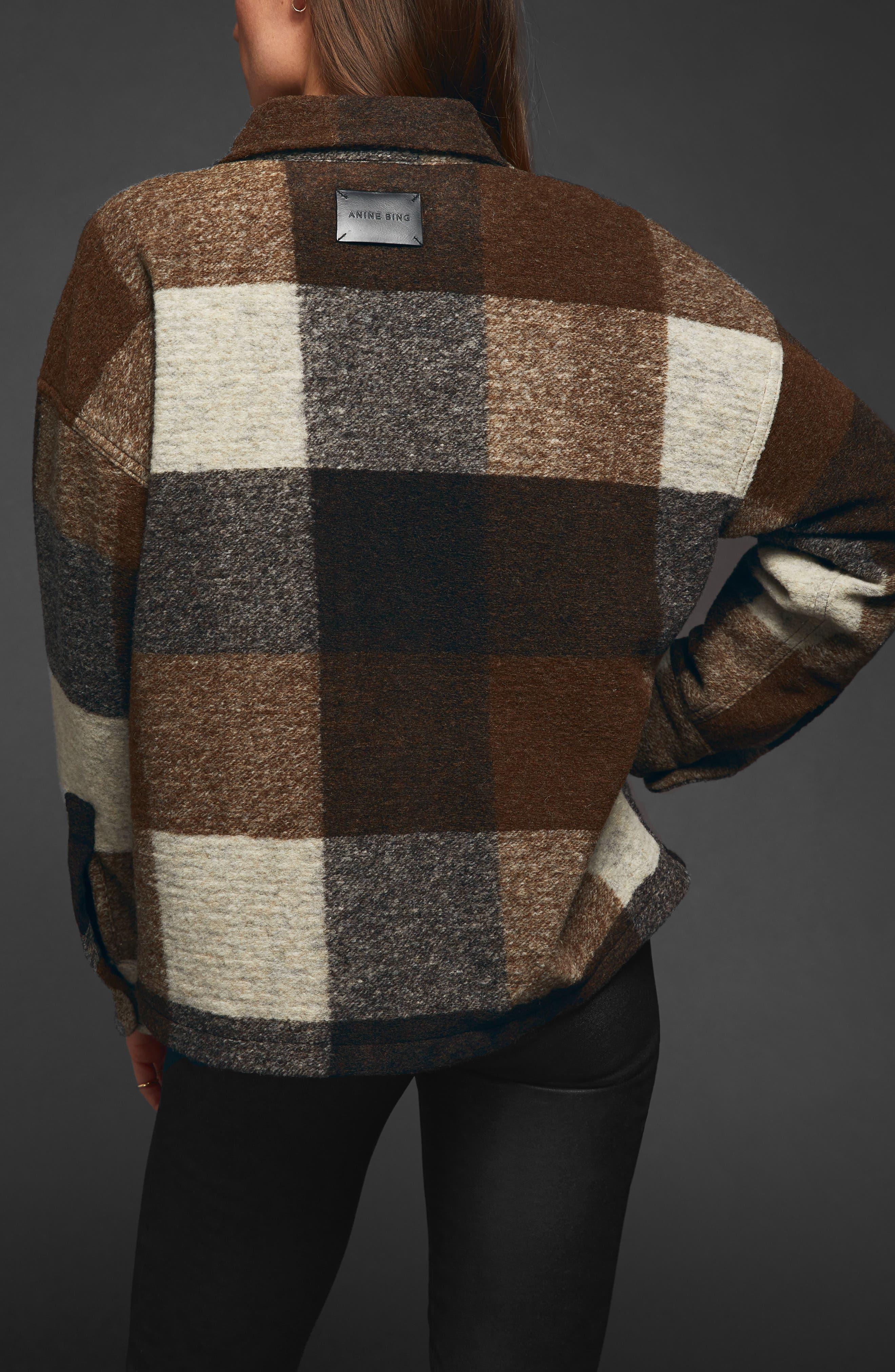 Bobbi Flannel Shirt Jacket,                             Alternate thumbnail 2, color,                             BROWN