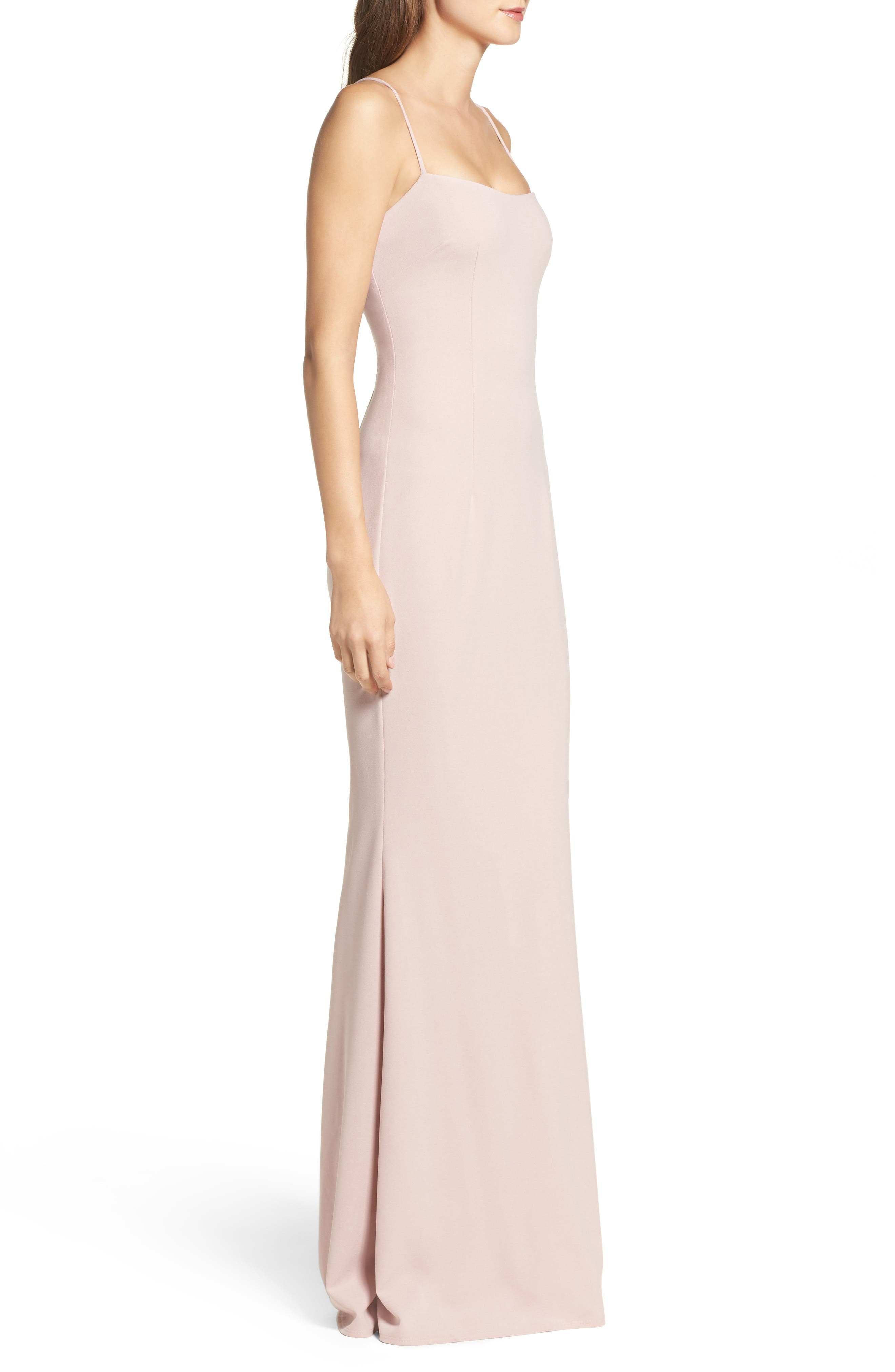 Jean Stretch Crepe Gown,                             Alternate thumbnail 5, color,