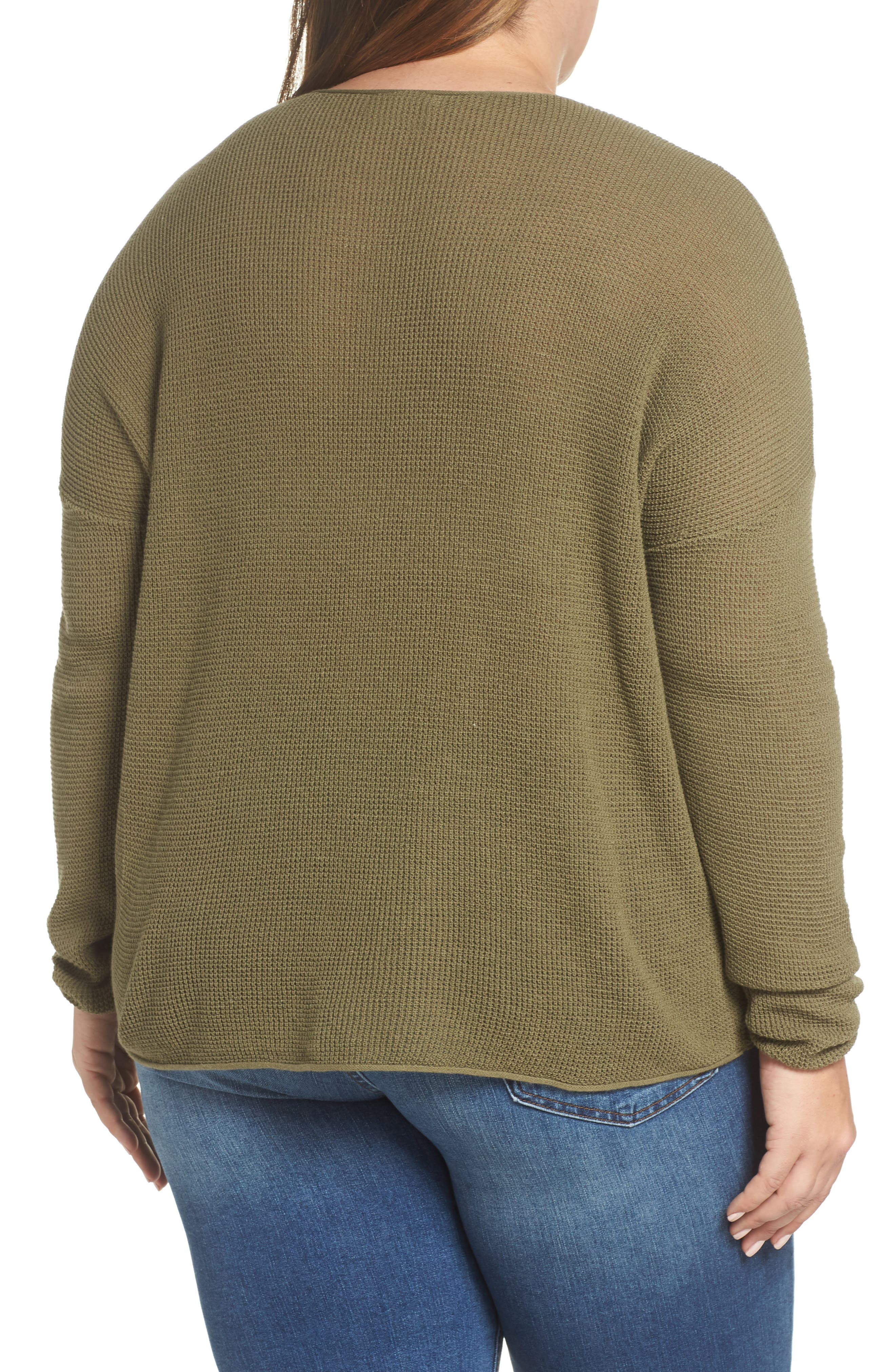 Coastal Thermal Sweater,                             Alternate thumbnail 8, color,                             OLIVE BURNT