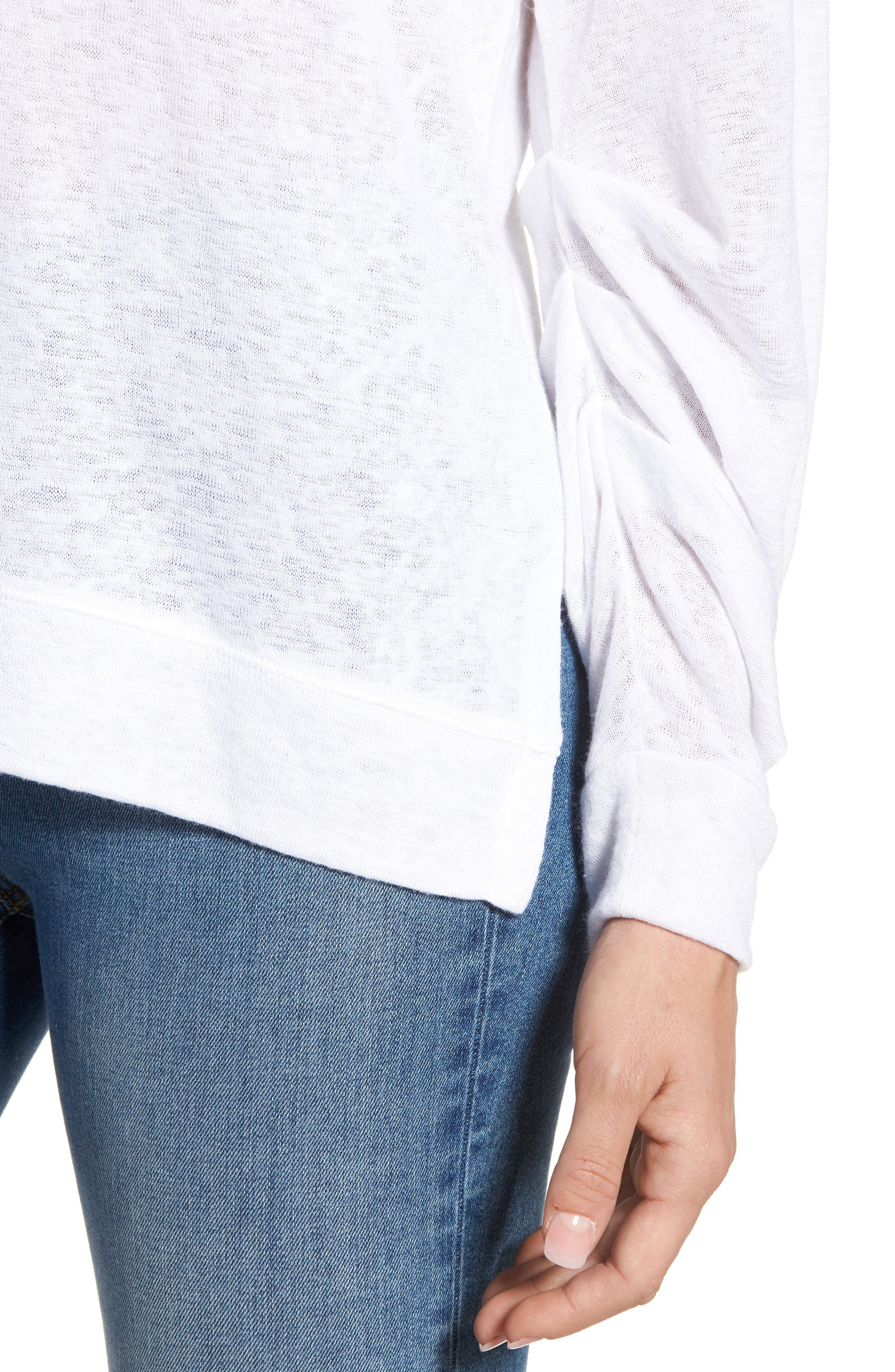 Tuck Sleeve Sweatshirt,                             Alternate thumbnail 22, color,