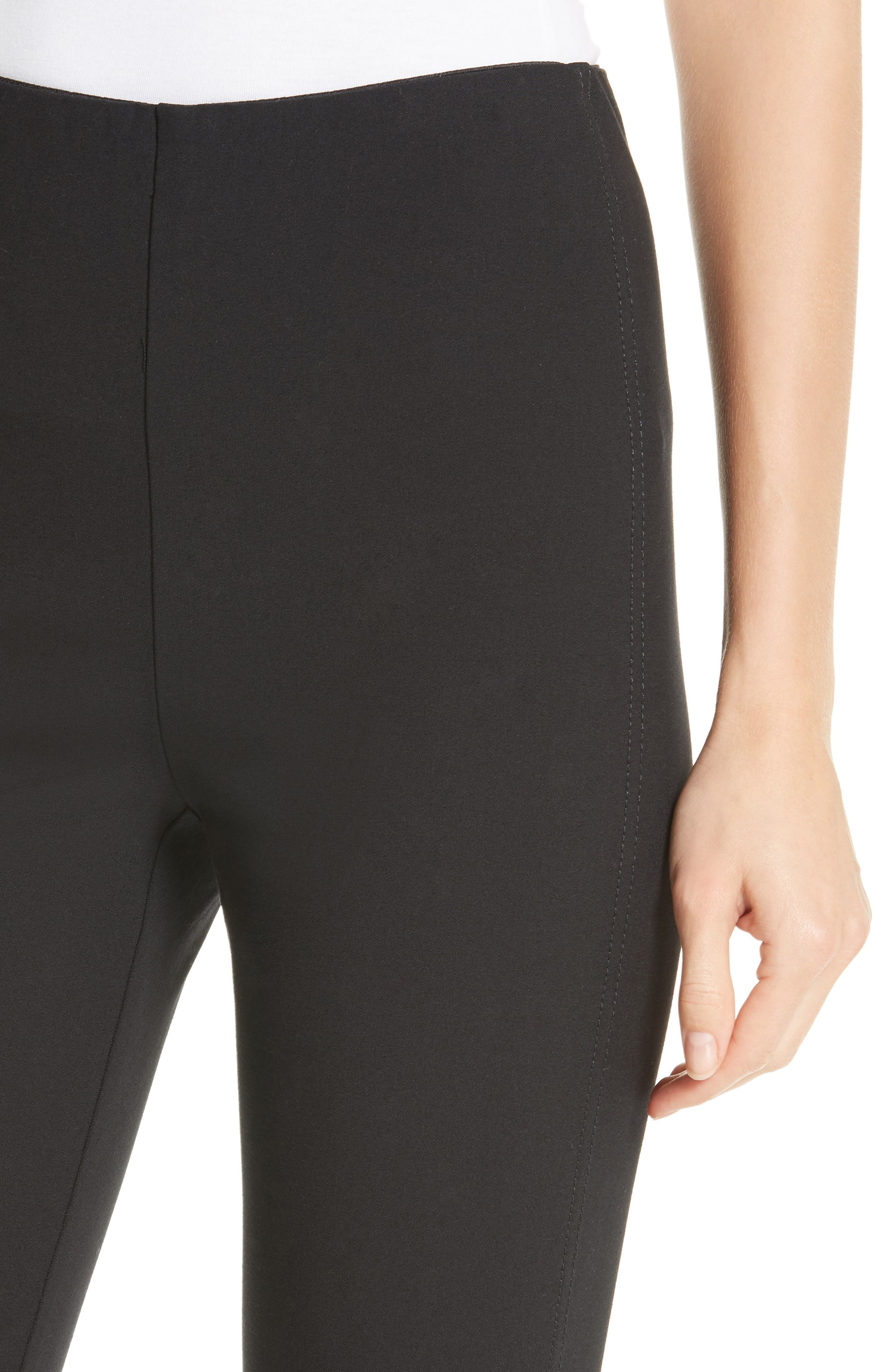 DEREK LAM 10 CROSBY,                             Sullivan Leggings,                             Alternate thumbnail 4, color,                             BLACK
