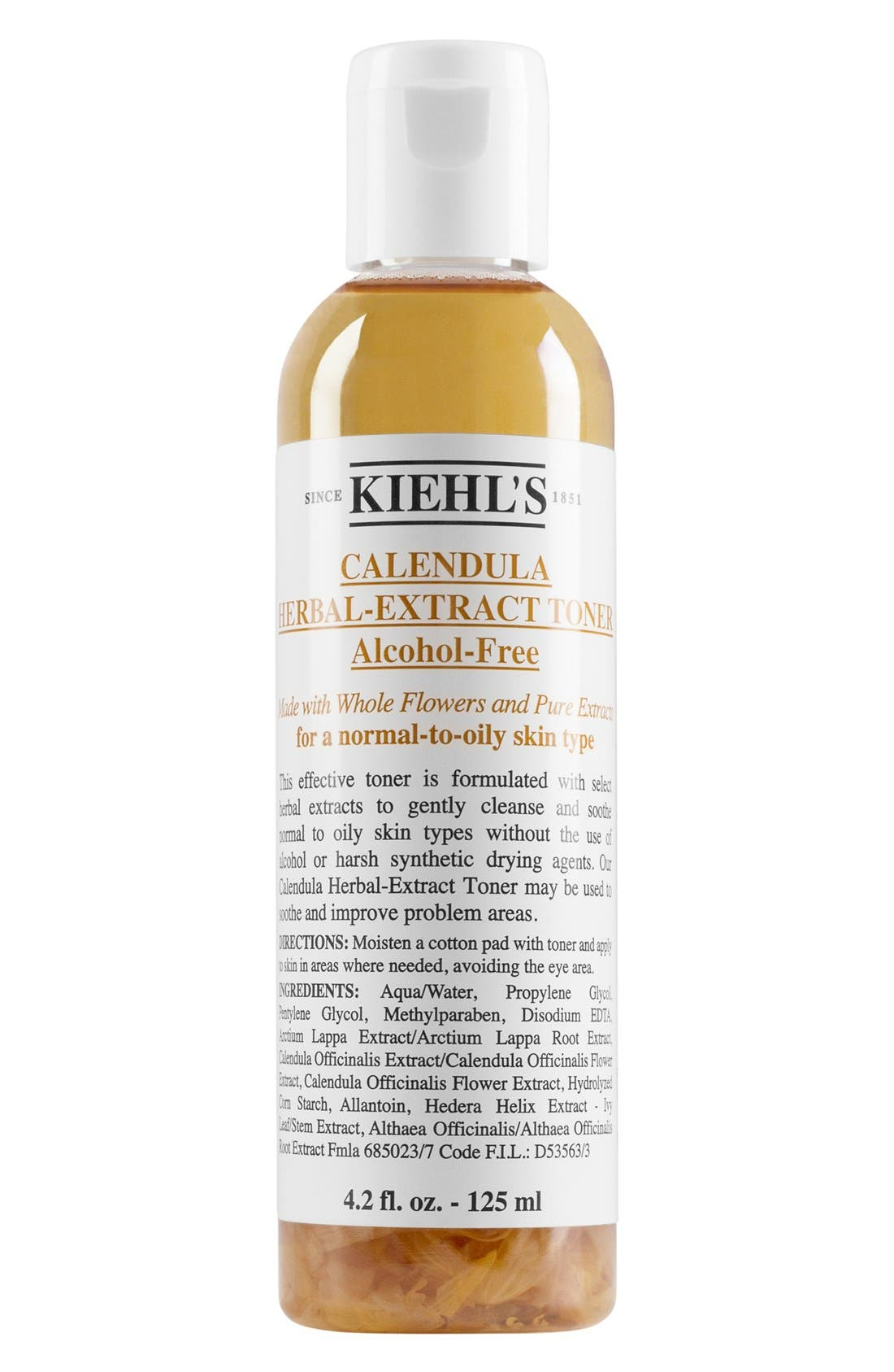 Calendula Herbal Extract Alcohol Free Toner,                             Main thumbnail 1, color,                             NO COLOR