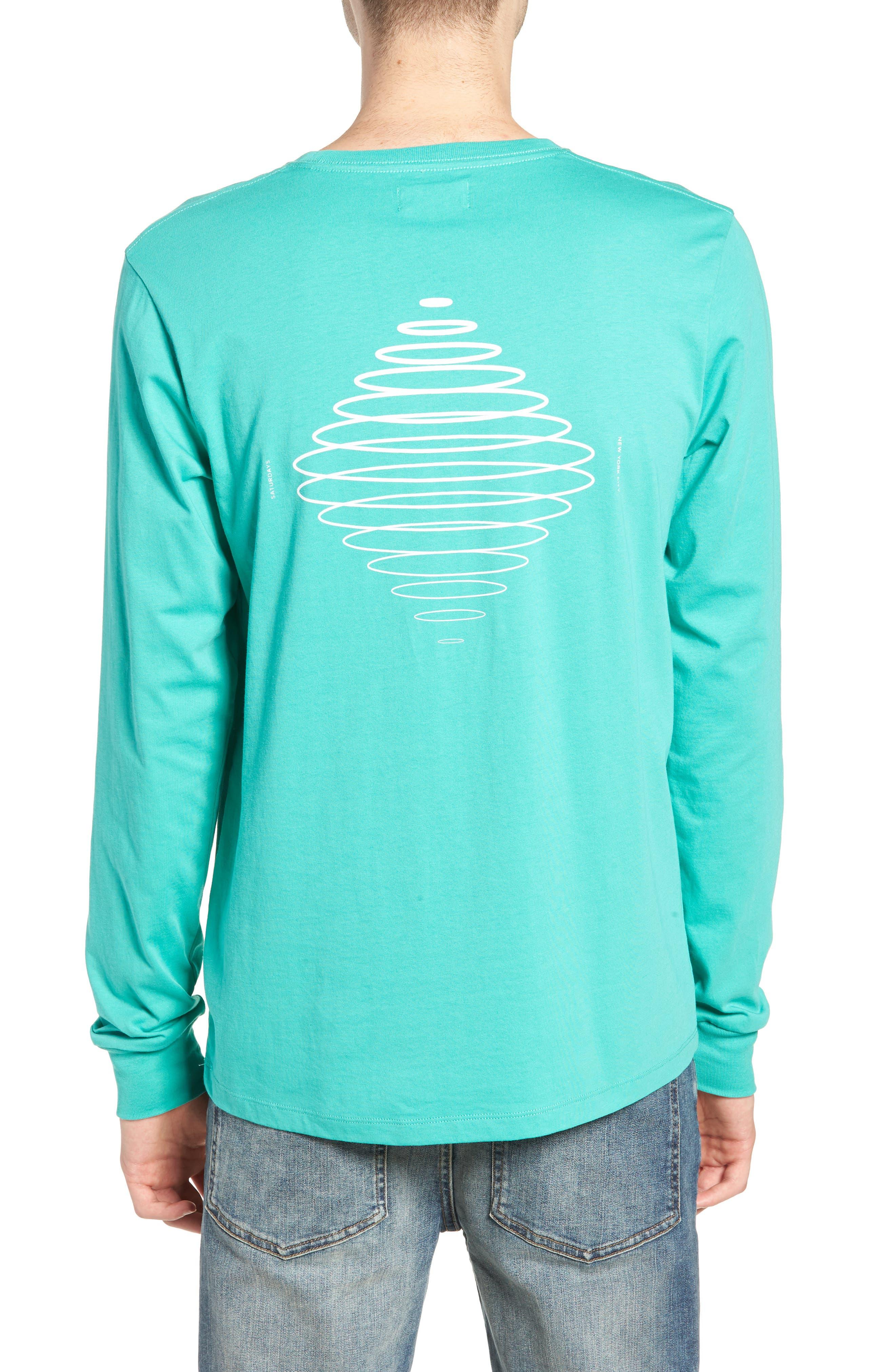 Diamond Spiral Long Sleeve T-Shirt,                             Alternate thumbnail 2, color,                             SEAFOAM GREEN
