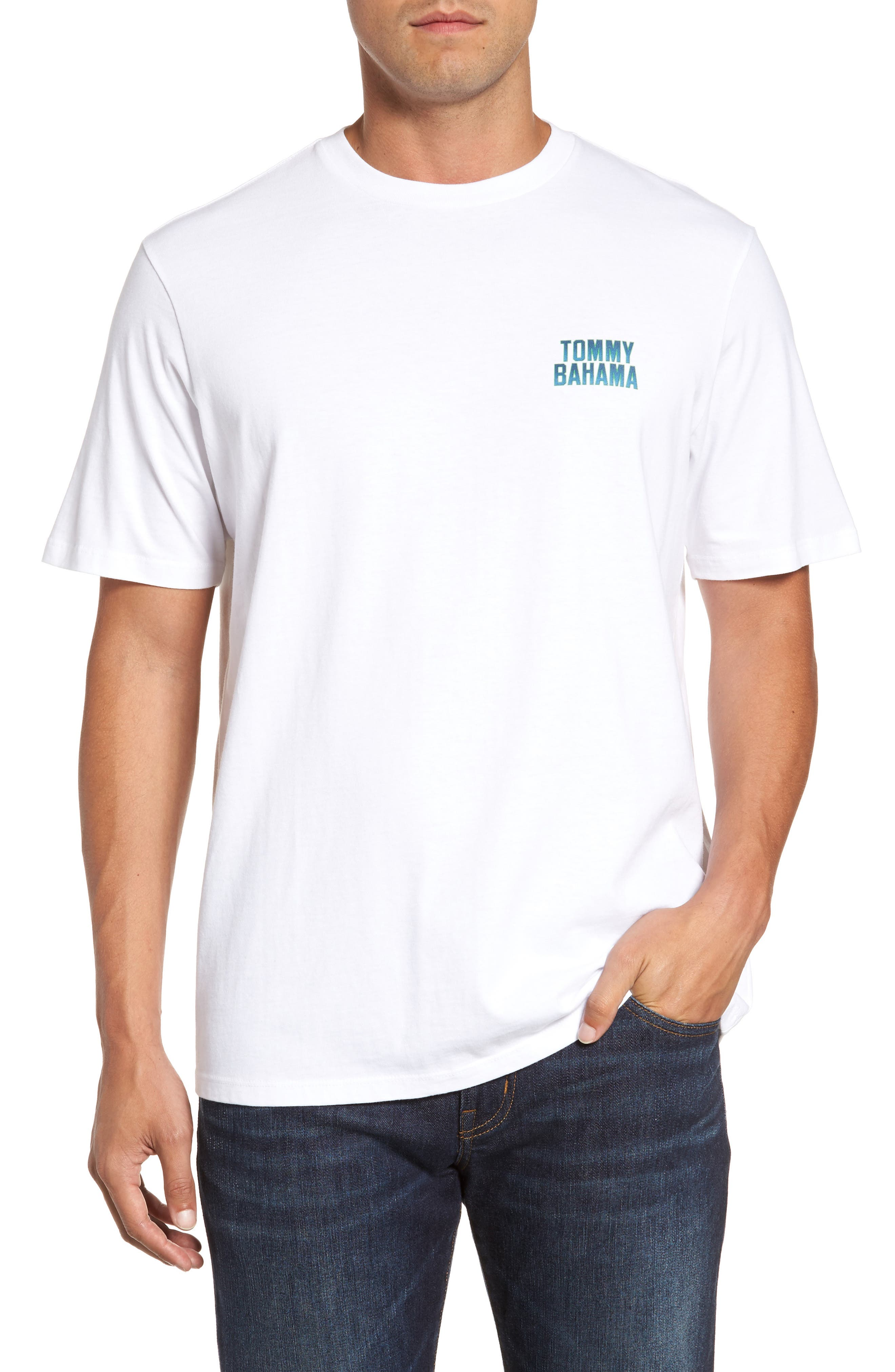 Gull Tending Standard Fit T-Shirt,                         Main,                         color, 100