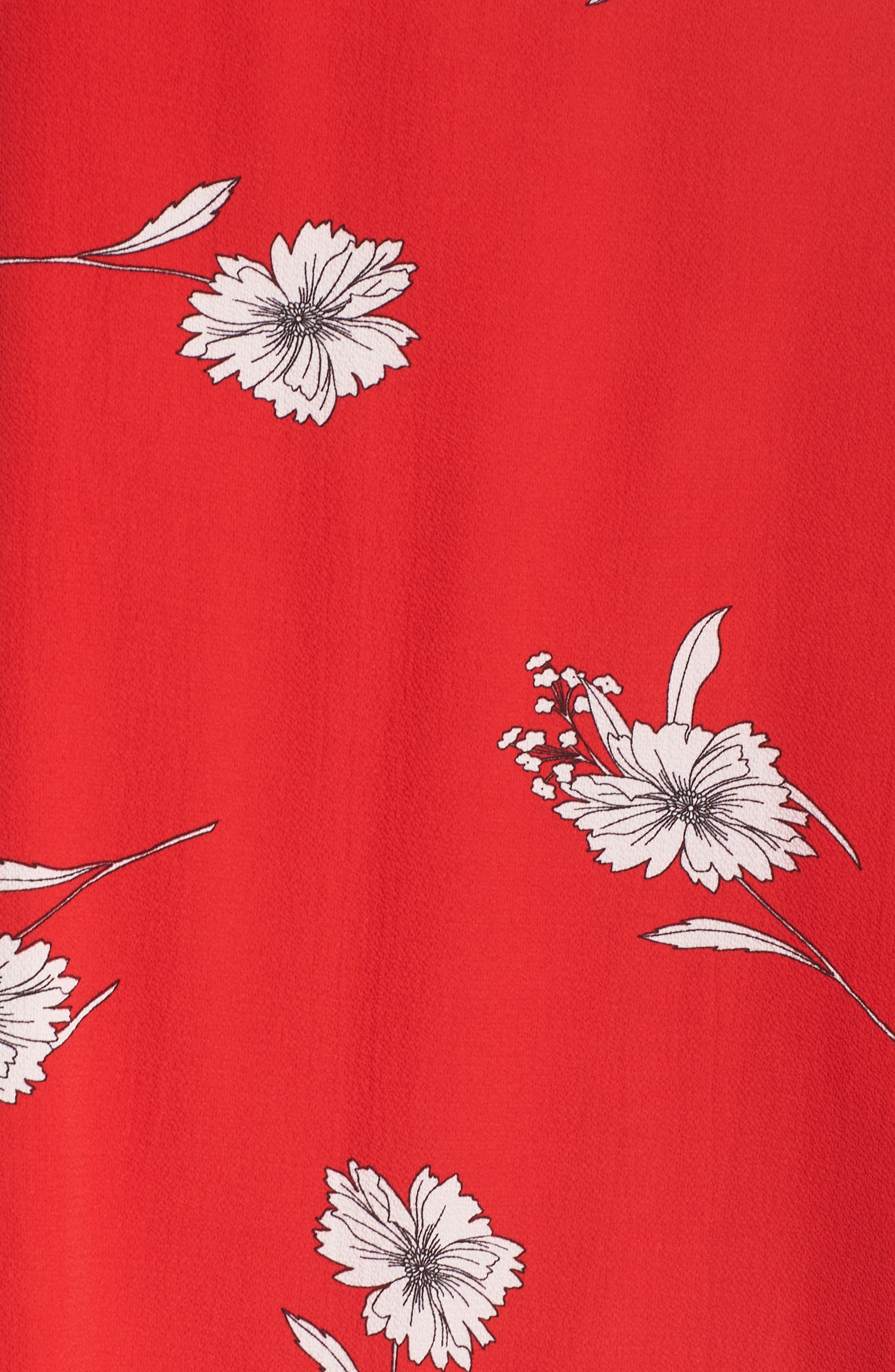 Floral Off the Shoulder Shift Dress,                             Alternate thumbnail 5, color,                             600