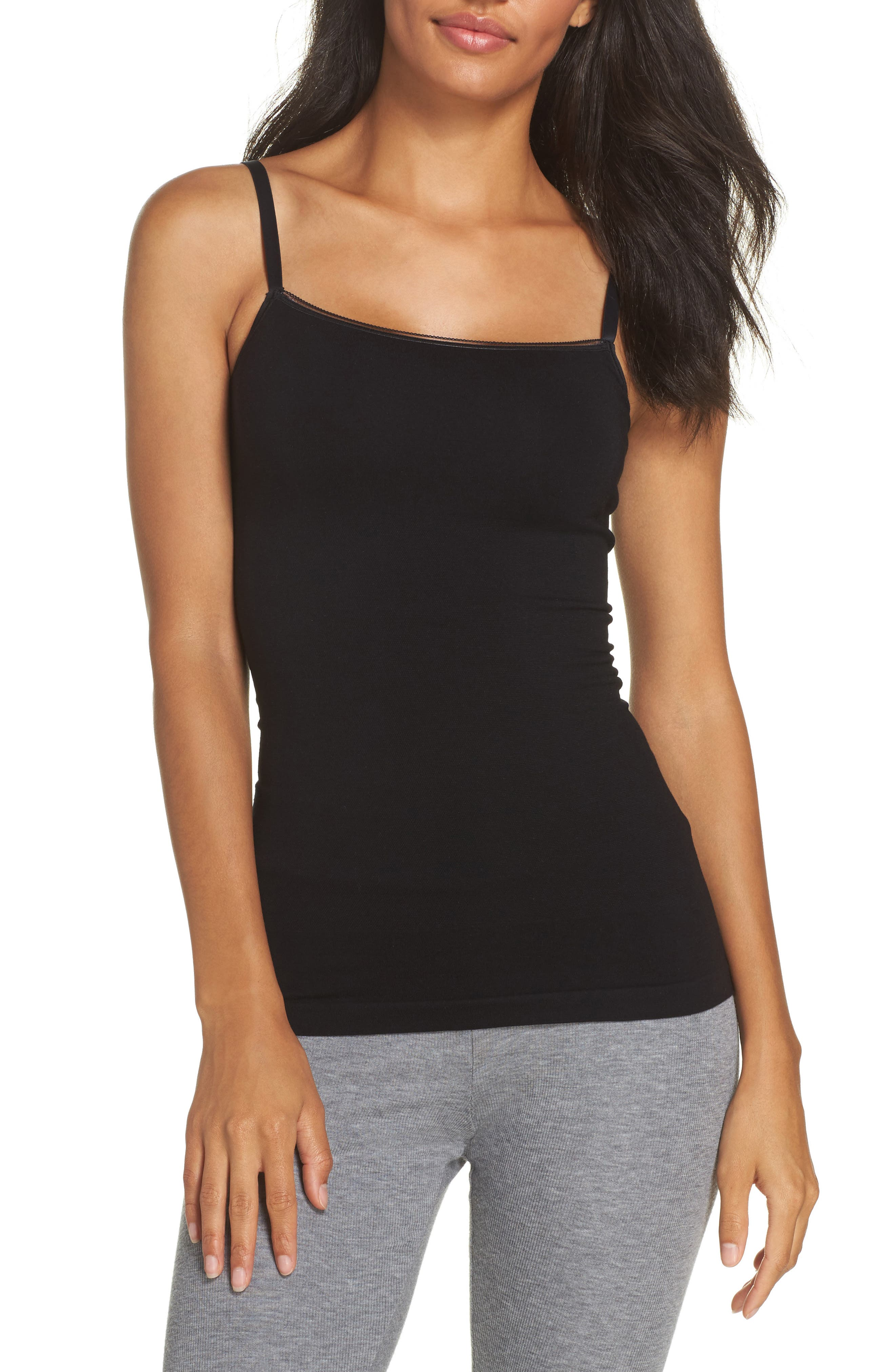 Seamlessly Shaped Convertible Camisole,                             Main thumbnail 1, color,                             BLACK