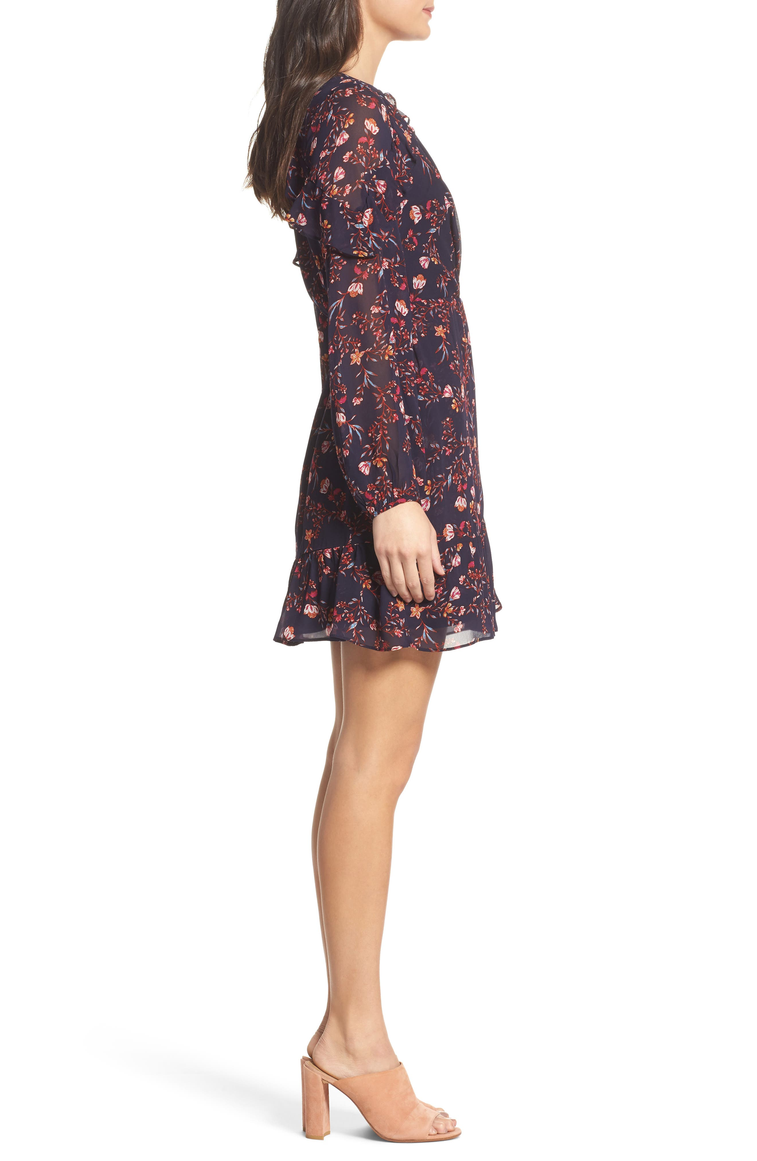 Esther Ruffle Wrap Dress,                             Alternate thumbnail 3, color,