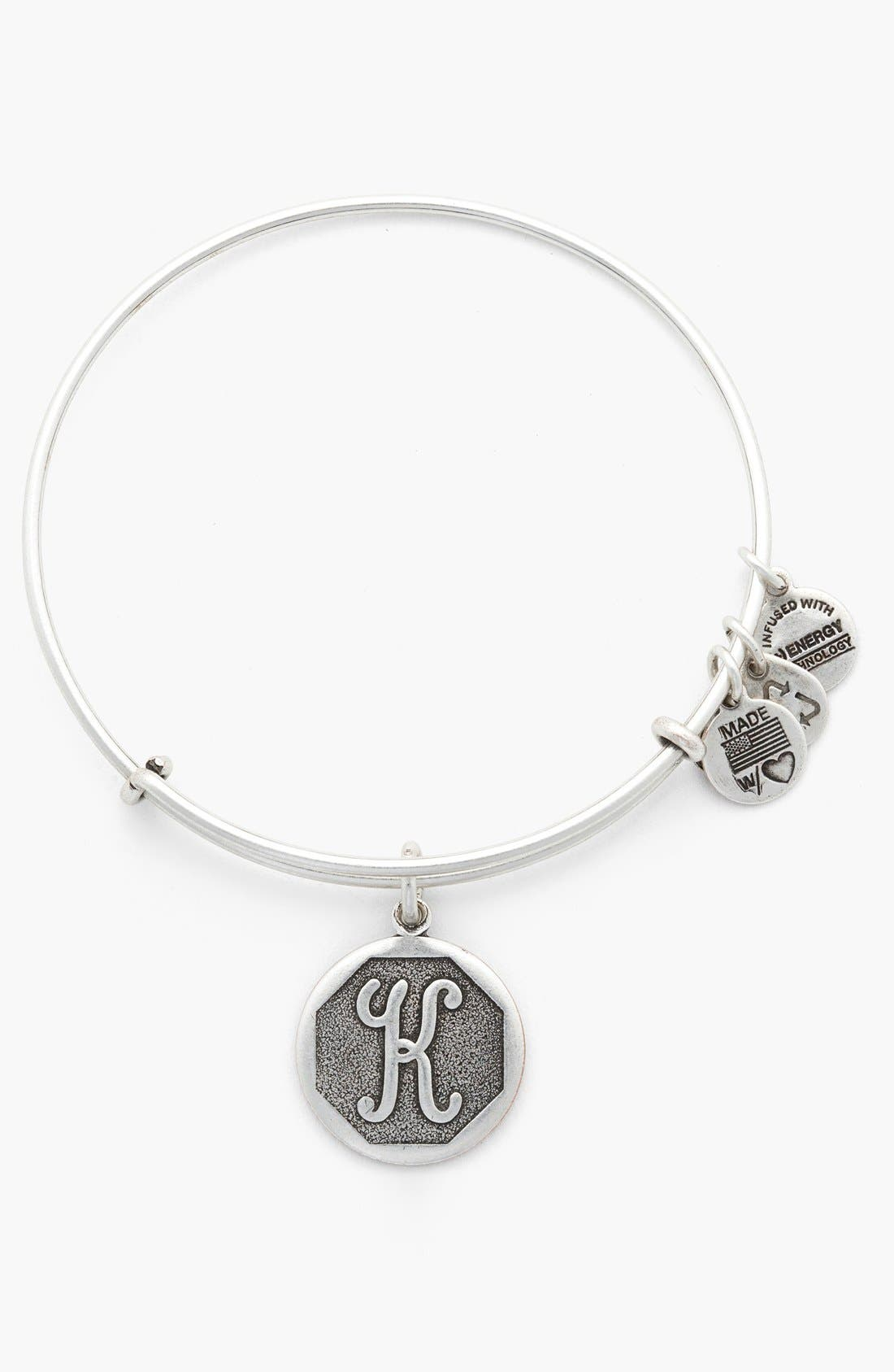 'Initial' Adjustable Wire Bangle,                             Main thumbnail 12, color,