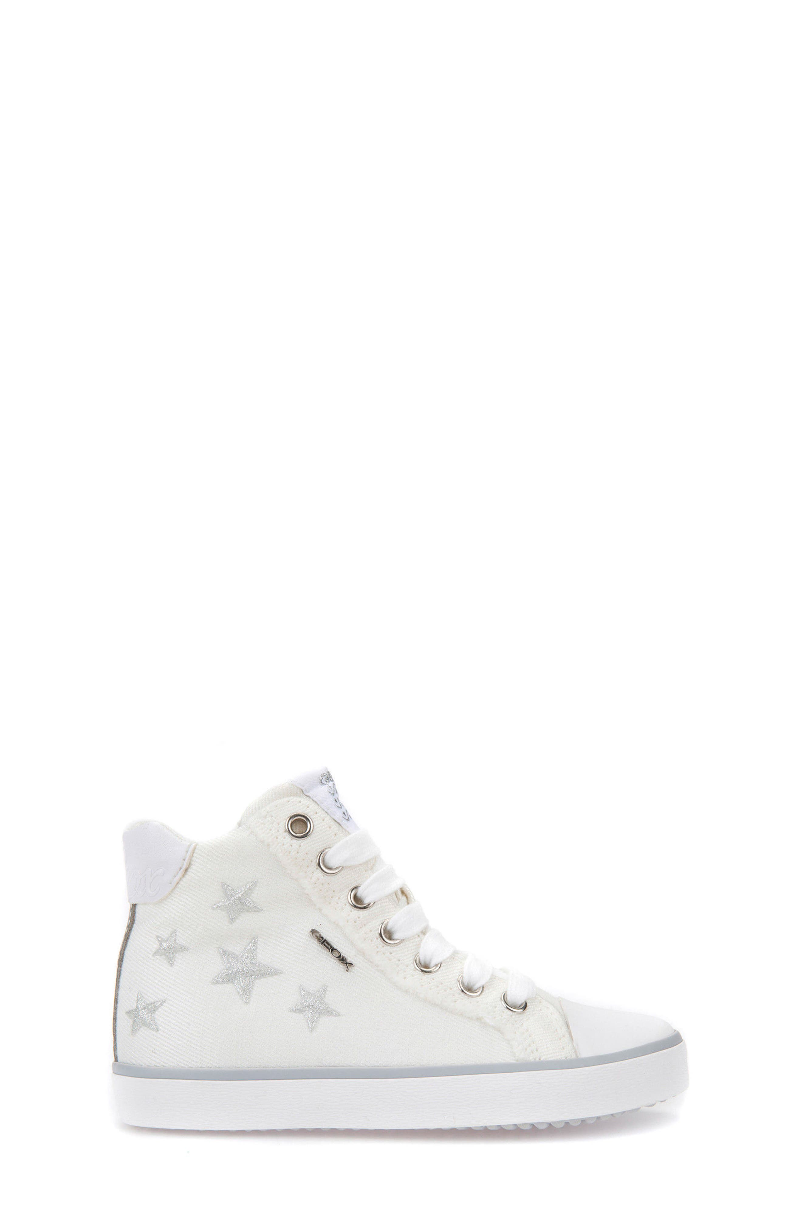 Kilwi High Top Zip Sneaker,                             Alternate thumbnail 3, color,                             WHITE