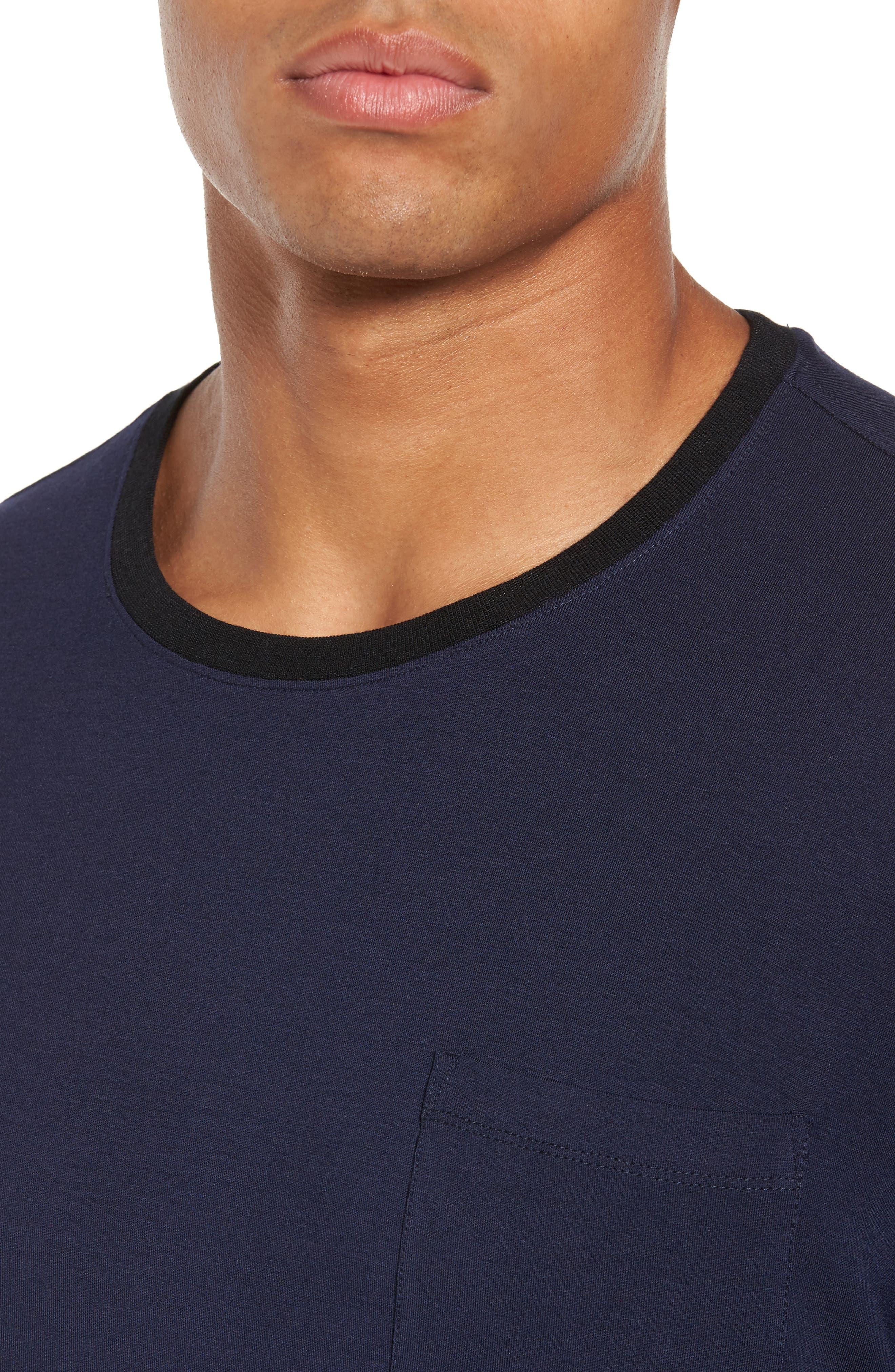 Modal & Silk Pocket T-Shirt,                             Alternate thumbnail 4, color,                             411