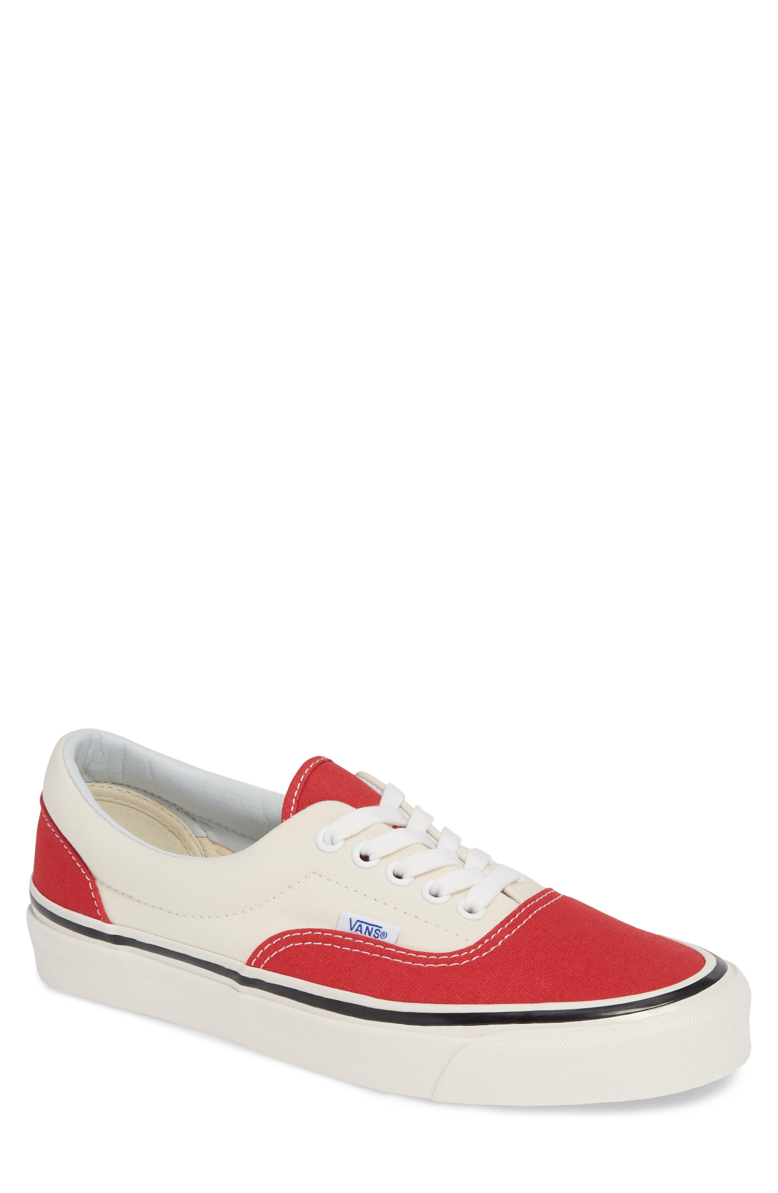 Anaheim Factory Era 95 DX Sneaker,                             Main thumbnail 1, color,                             OG RED/ OG WHITE CANVAS