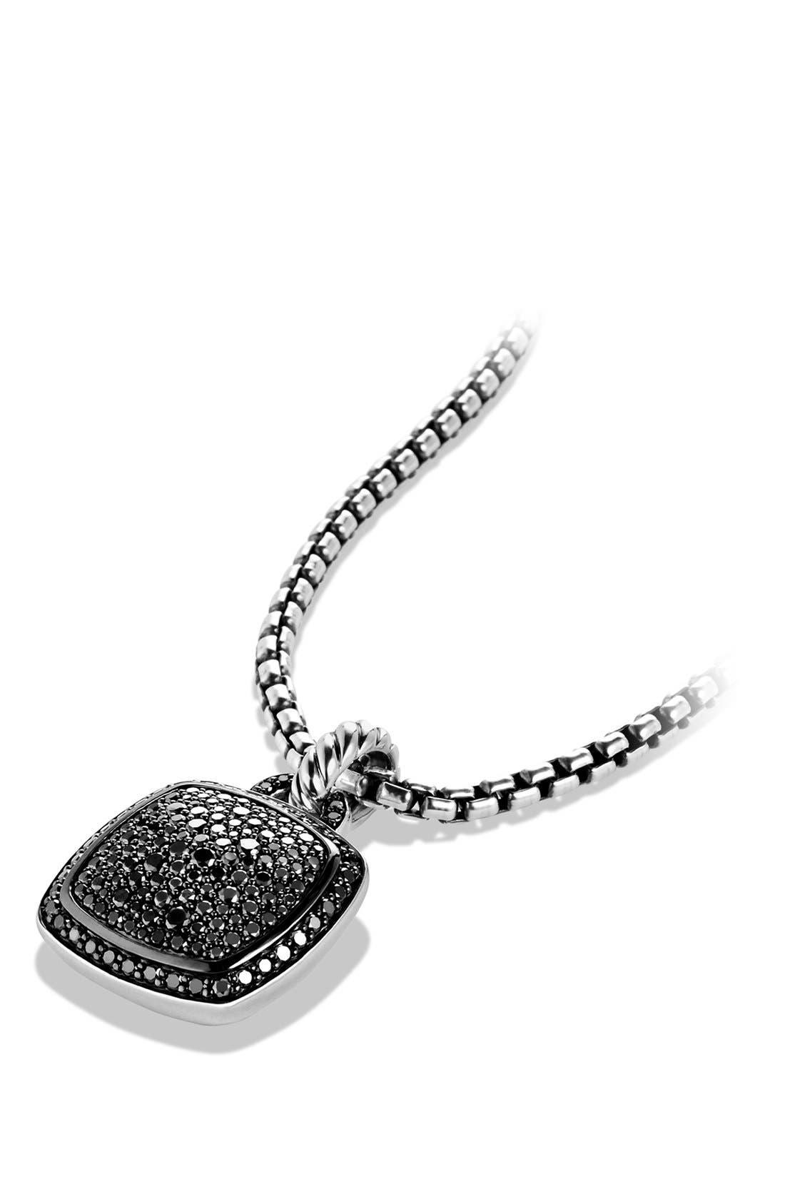 'Albion' Pendant with Diamonds,                             Alternate thumbnail 3, color,                             BLACK DIAMOND