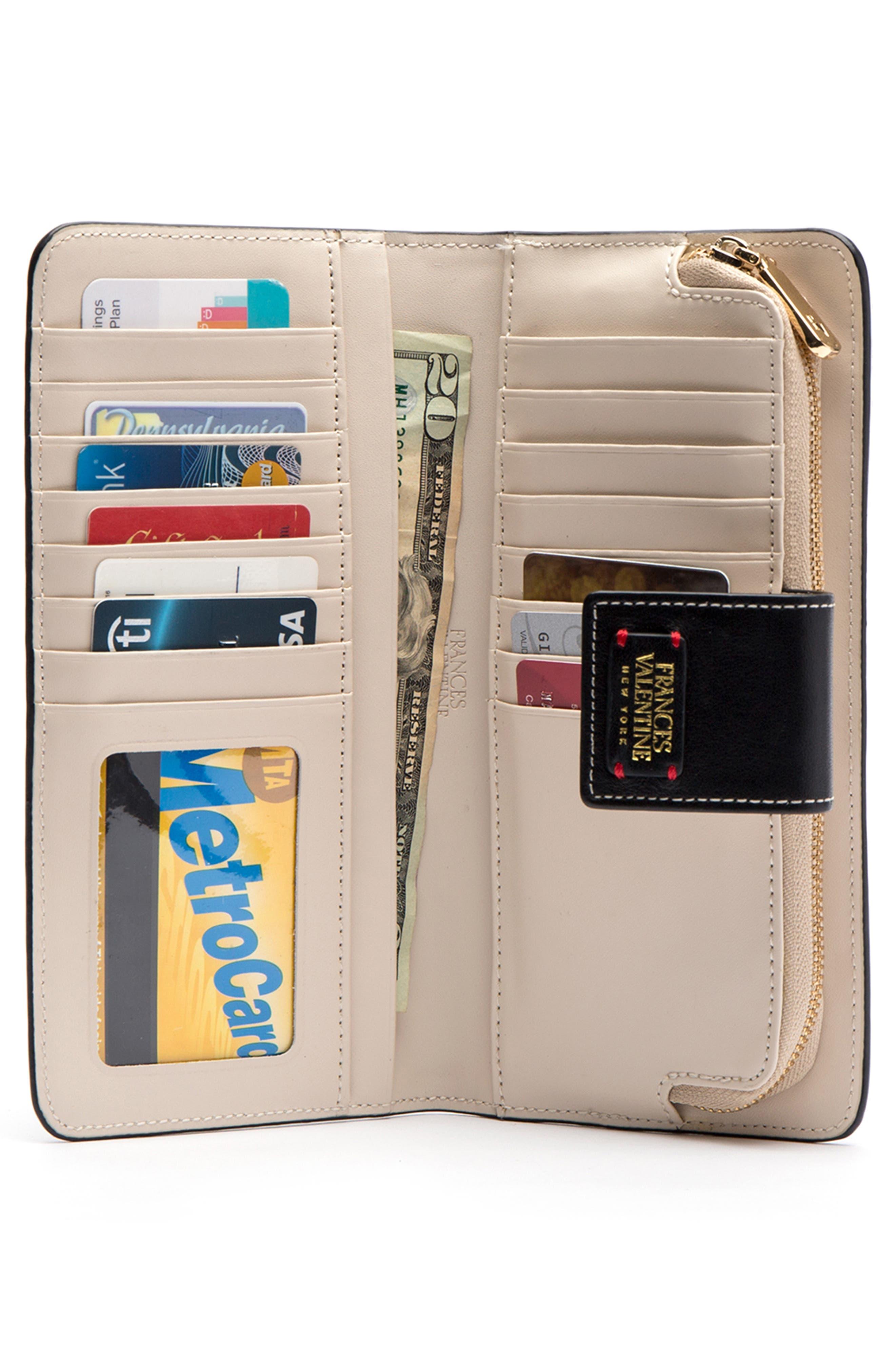 Jefferson Slim Calfskin Leather Wallet,                             Alternate thumbnail 2, color,                             BLACK/ OYSTER