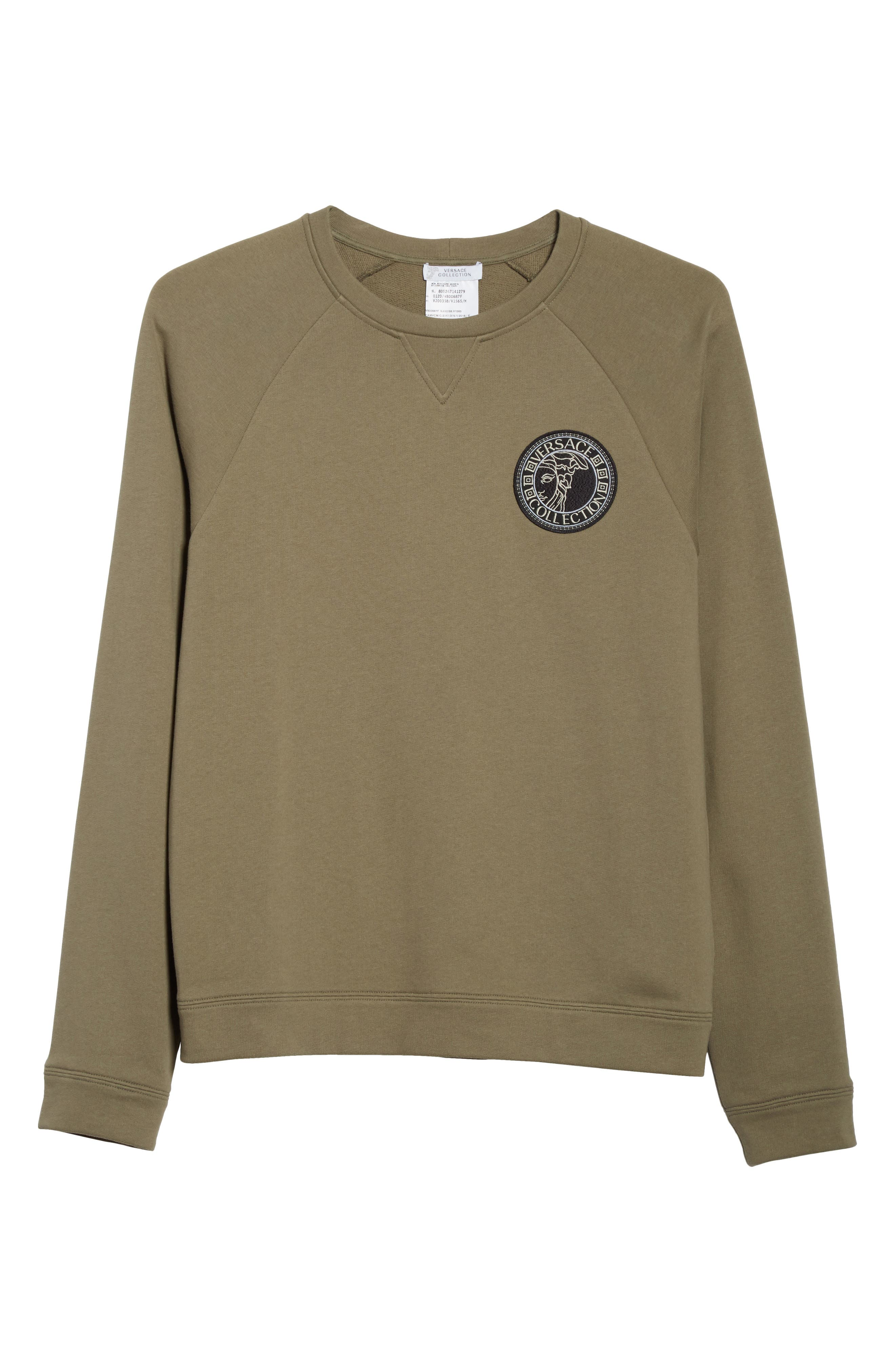 Patch Logo Sweatshirt,                             Alternate thumbnail 6, color,                             222