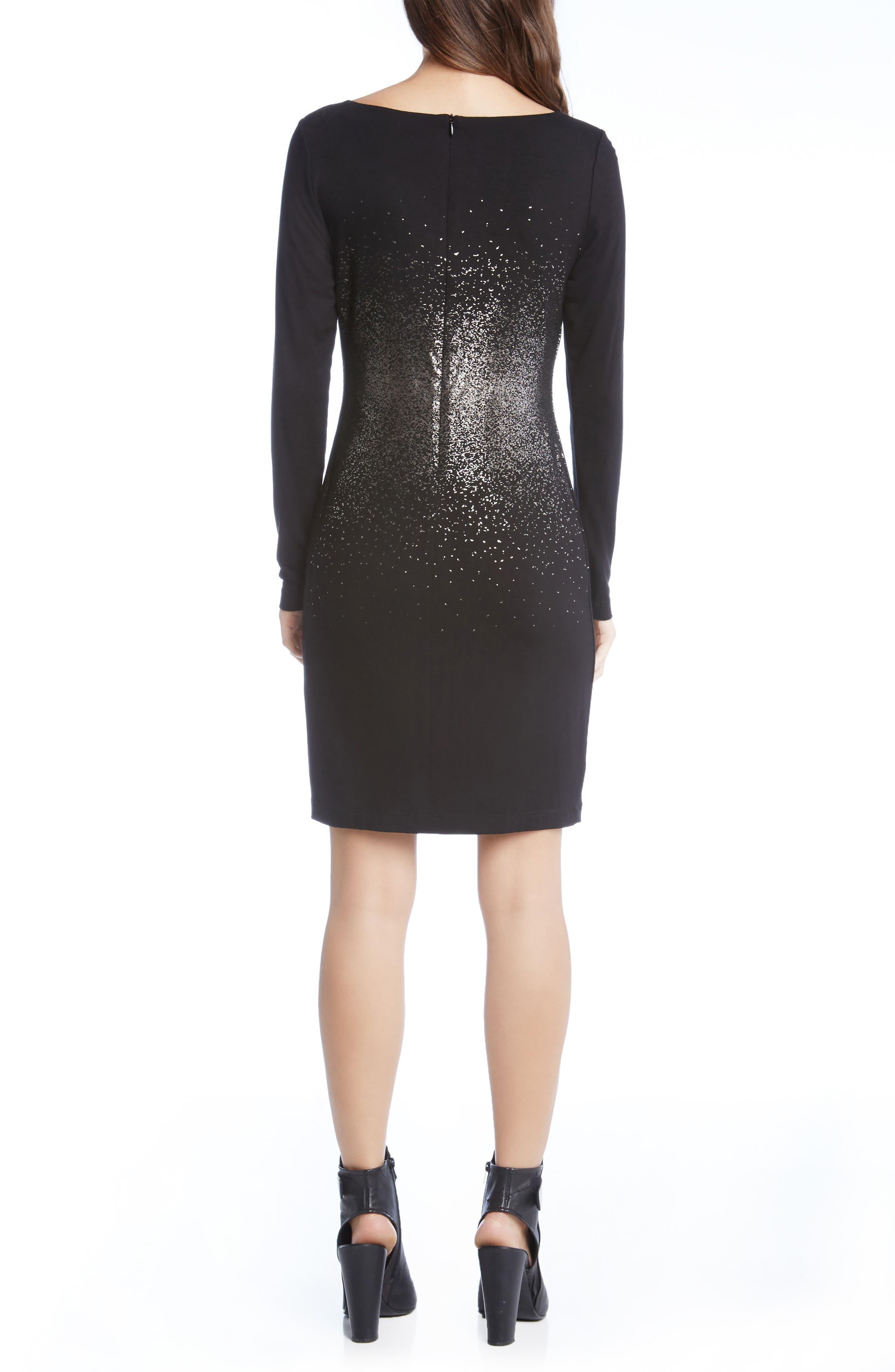 Metallic Ombré Sheath Dress,                             Alternate thumbnail 2, color,                             004