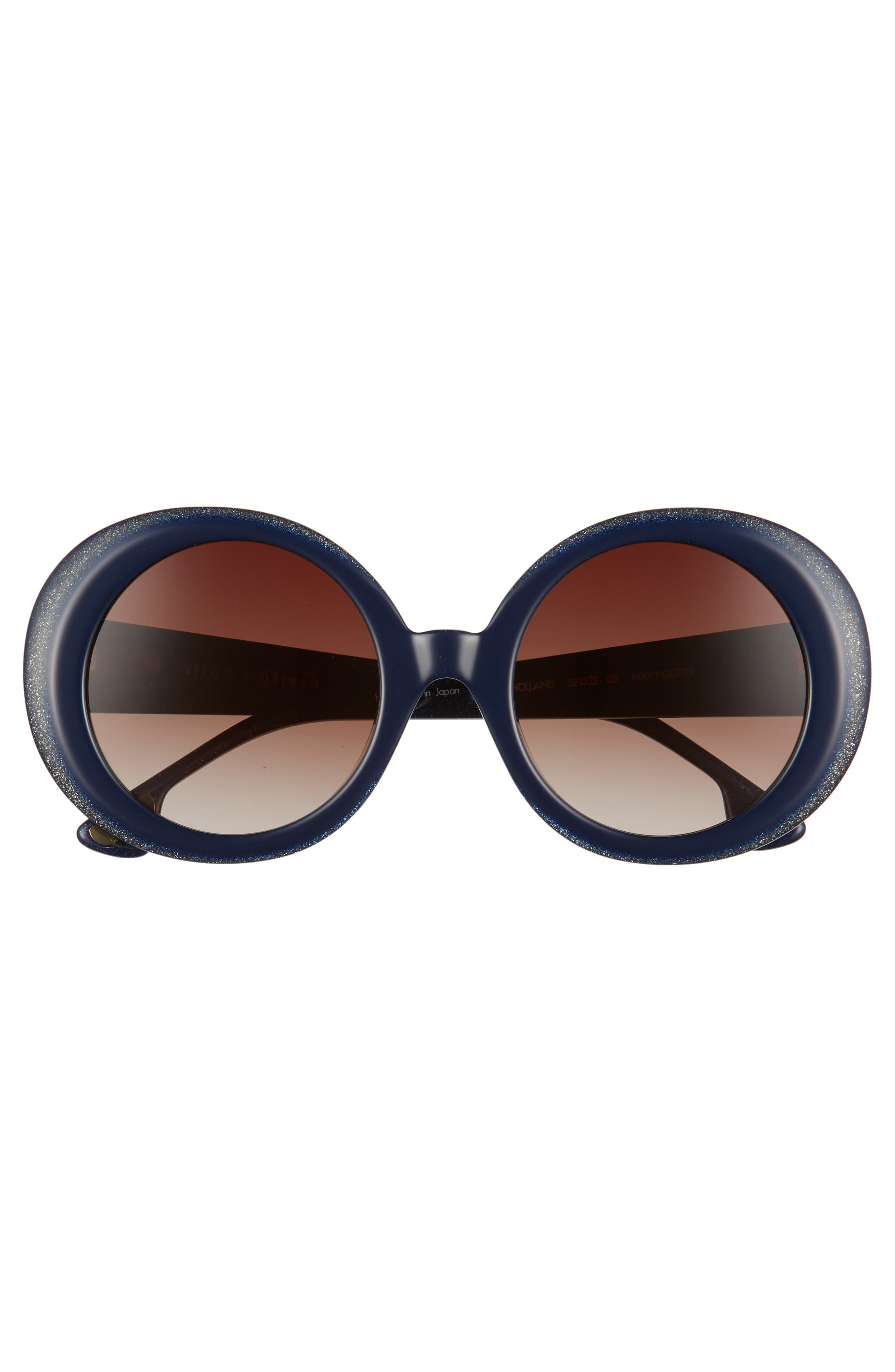 Mulholland 52mm Round Gradient Sunglasses,                             Alternate thumbnail 5, color,