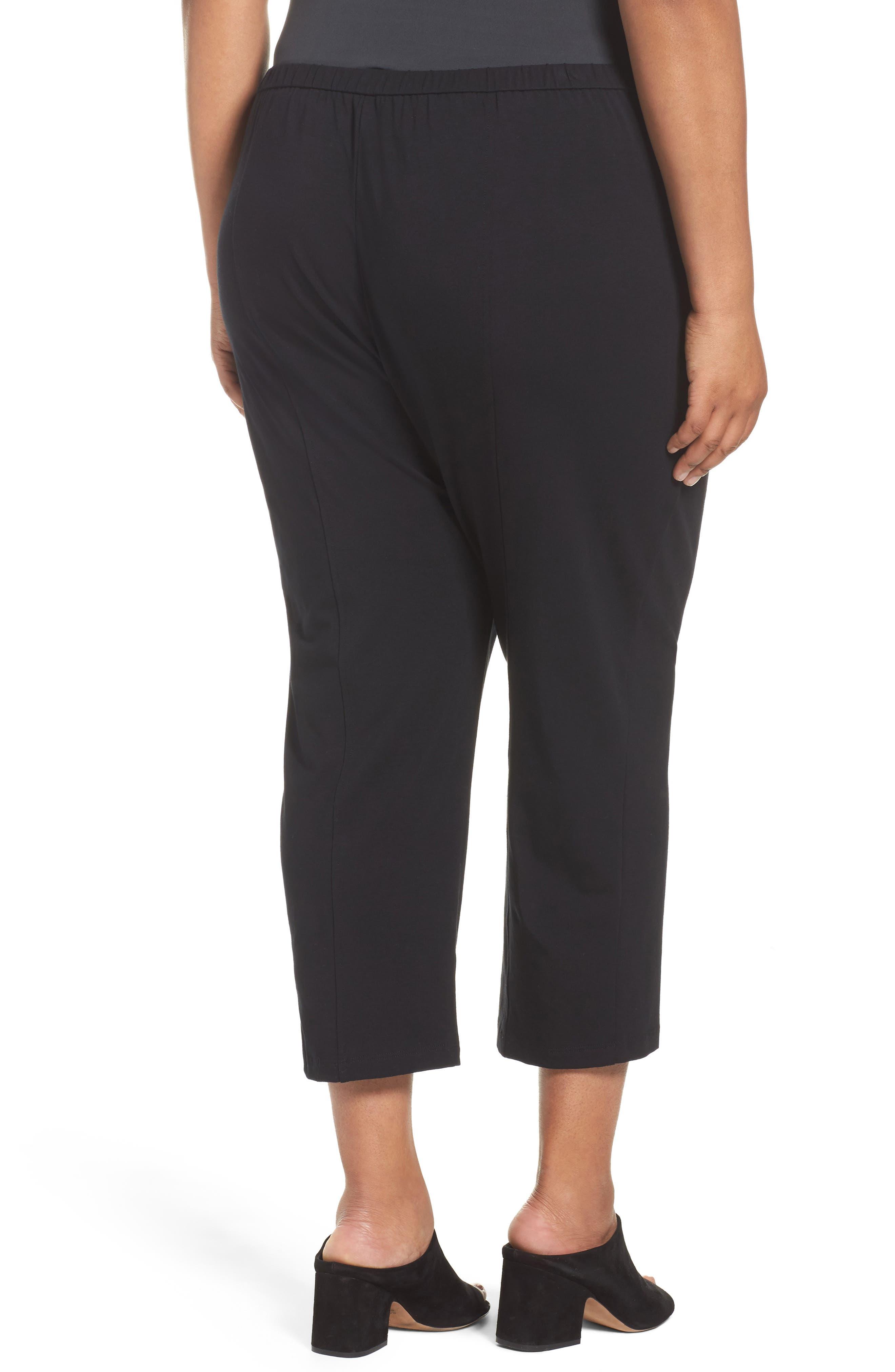 Stretch Organic Cotton Crop Pants,                             Alternate thumbnail 3, color,