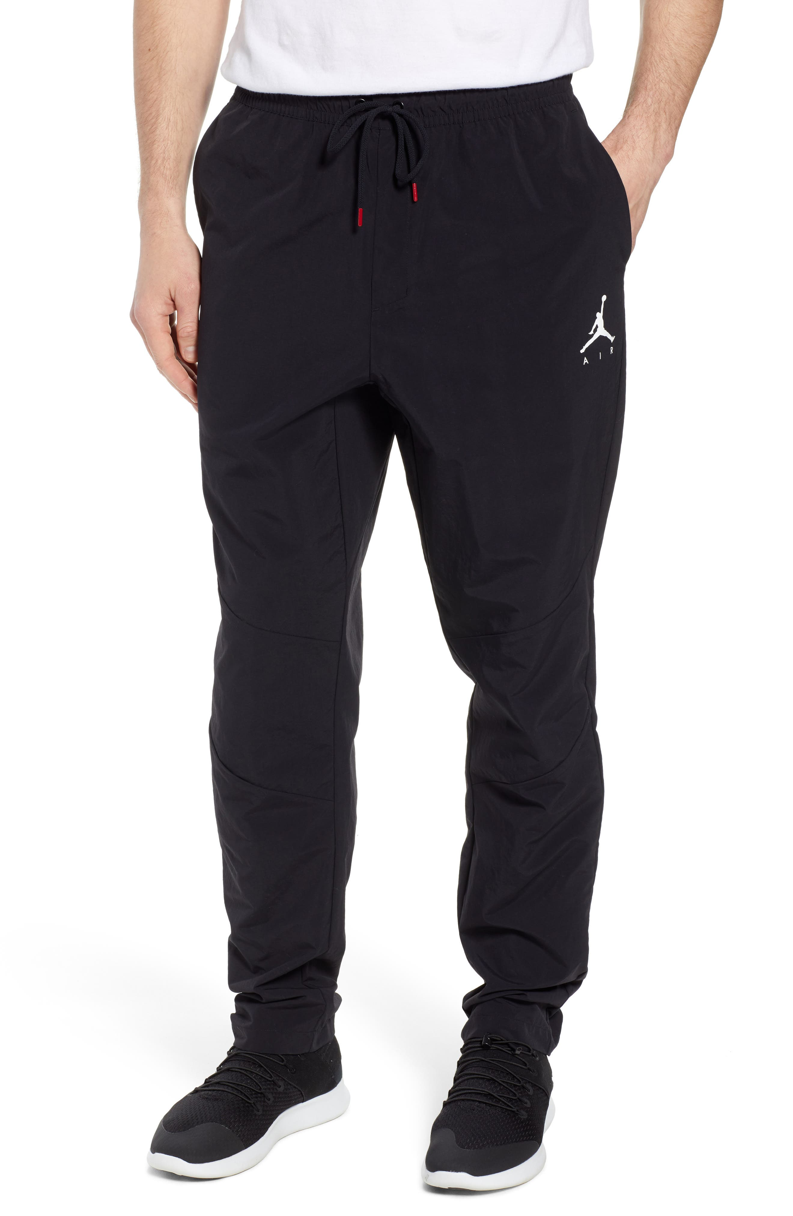 Jordan Jumpman Woven Pants,                         Main,                         color, BLACK/ WHITE