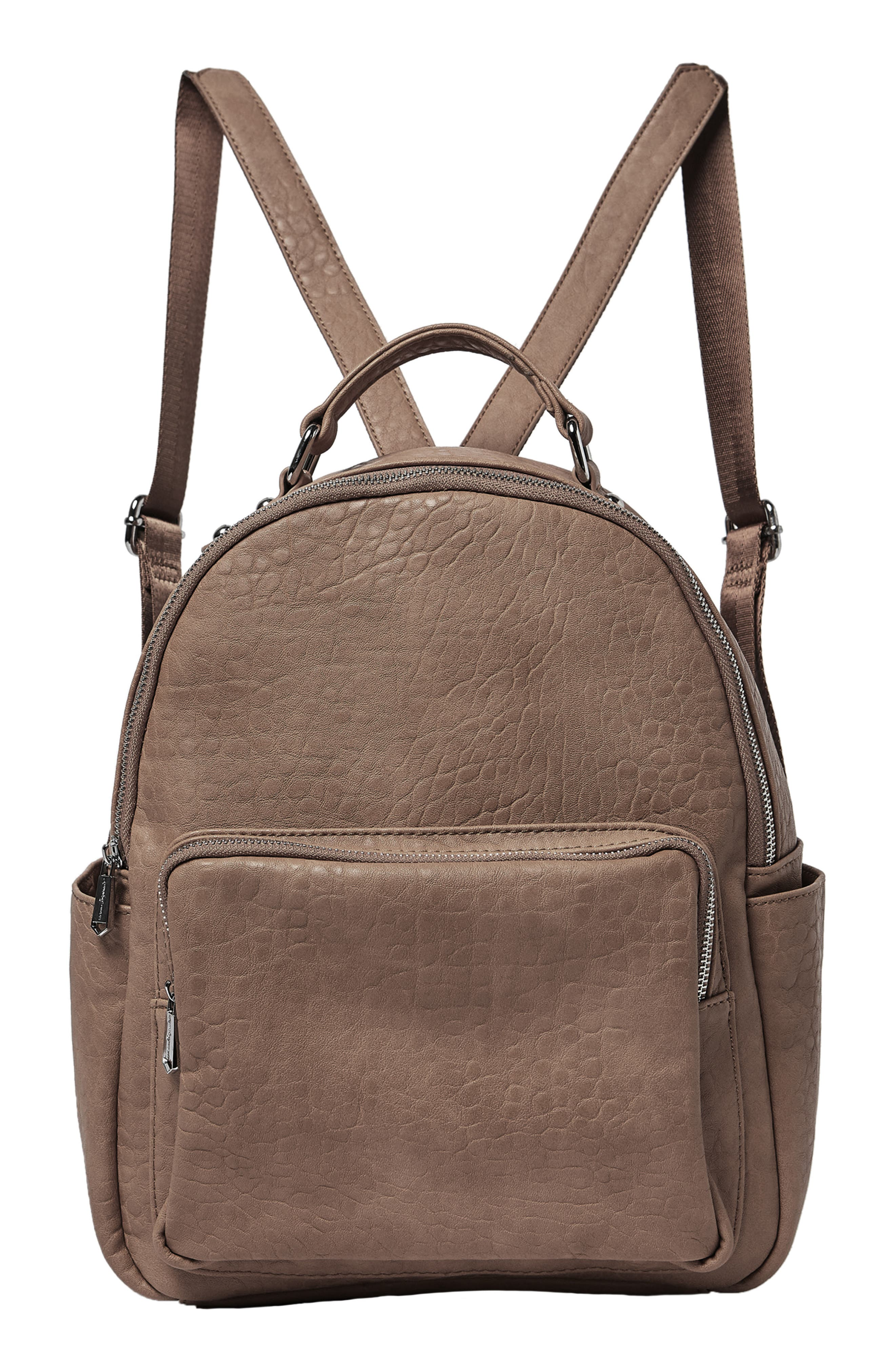 South Bag Vegan Leather Backpack,                             Main thumbnail 1, color,                             MOCHA
