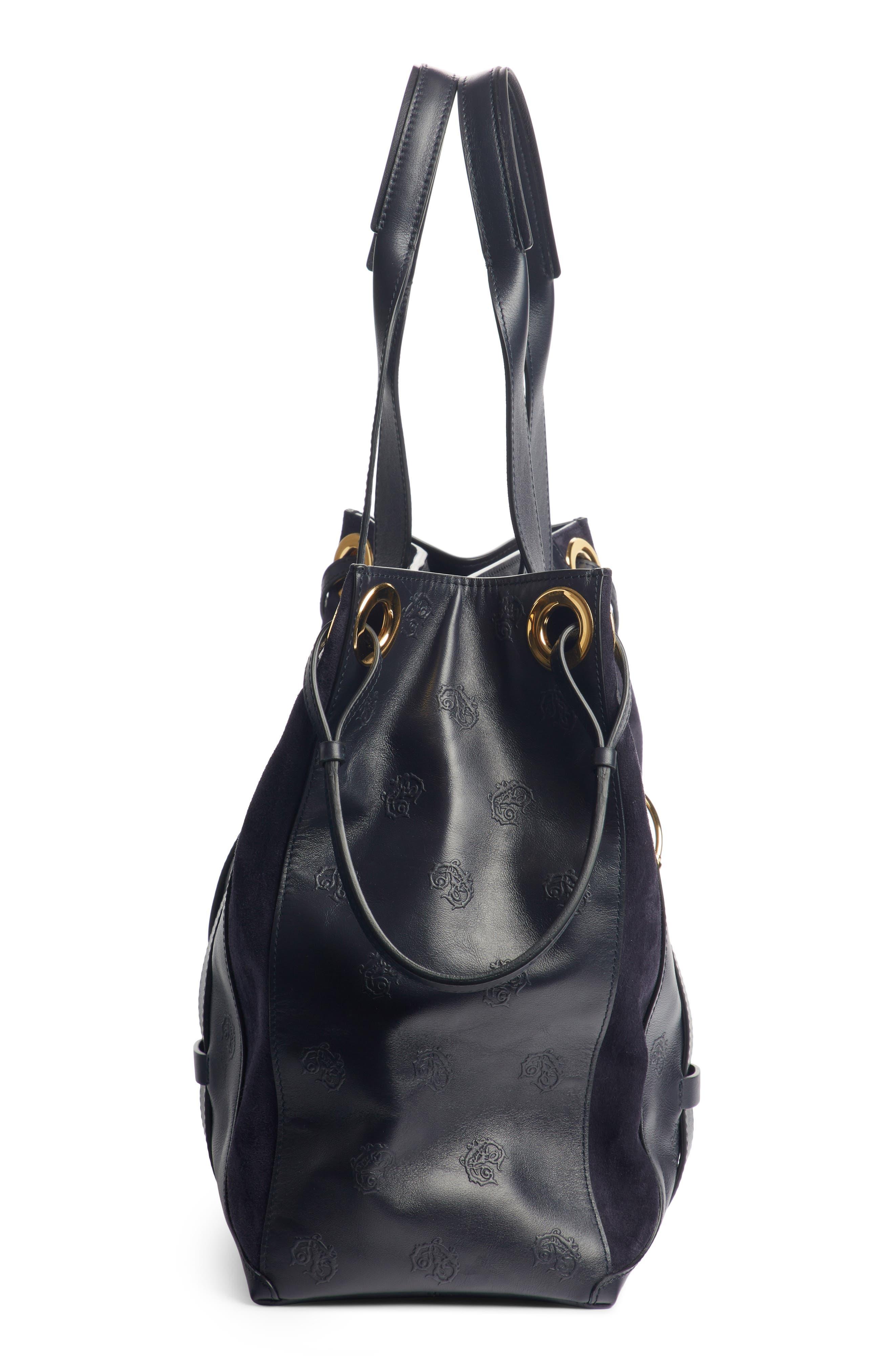 Medium Tao Embossed Leather Satchel,                             Alternate thumbnail 4, color,                             401