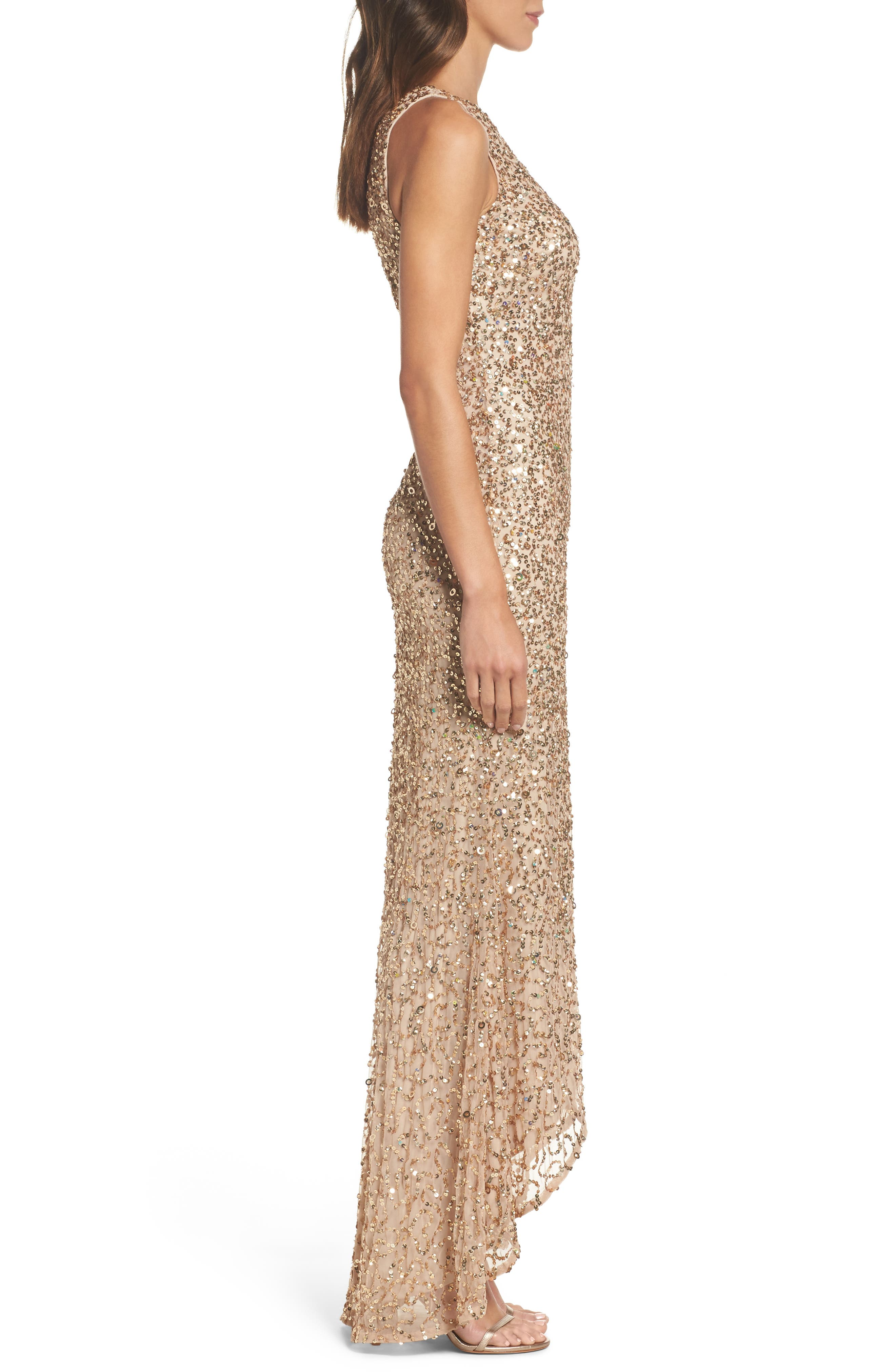 Sequin High/Low Gown,                             Alternate thumbnail 12, color,