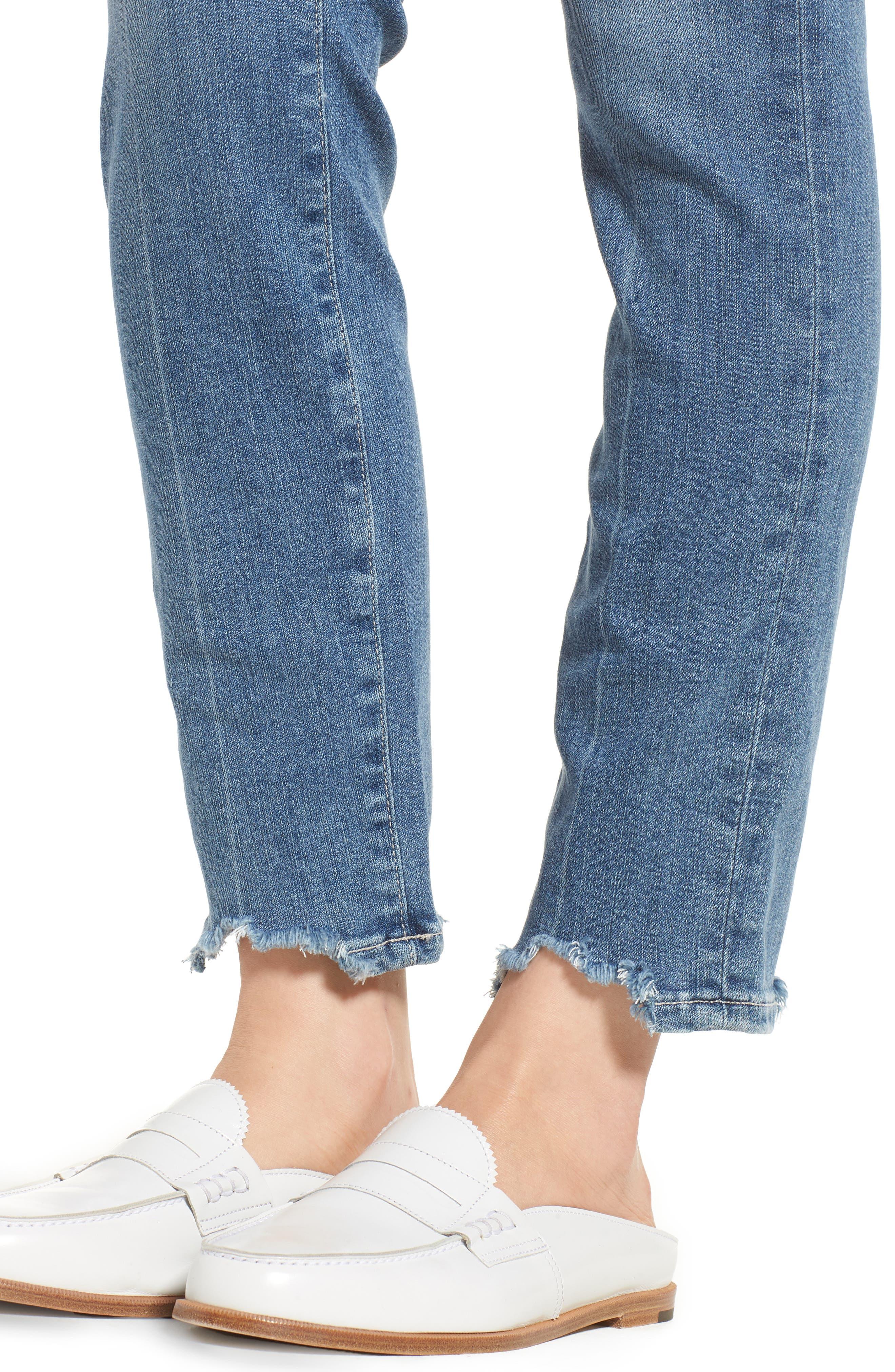 Transcend Vintage - Hoxton High Waist Ankle Skinny Jeans,                             Alternate thumbnail 4, color,                             ZAHARA