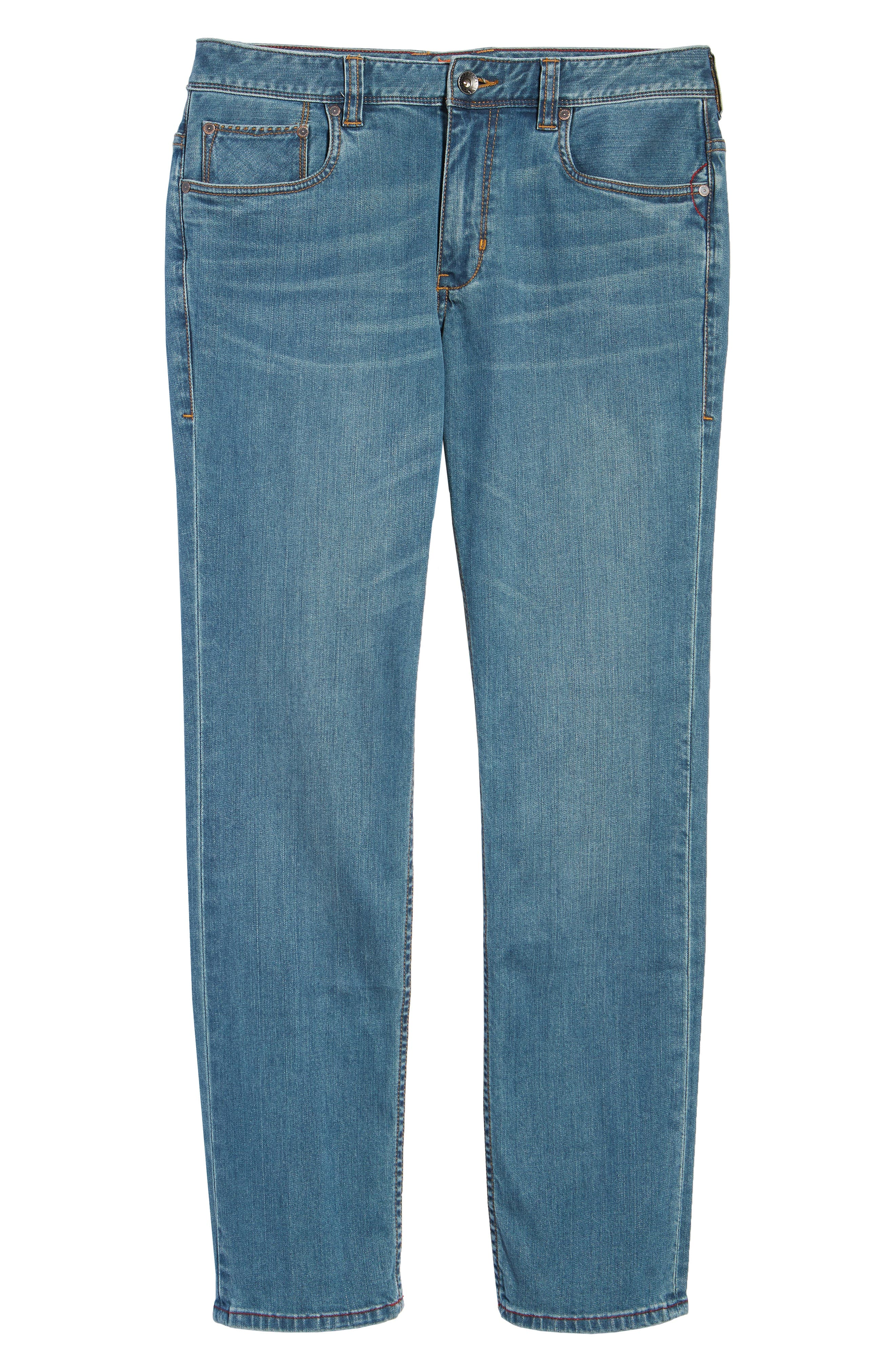 Vintage Fit Jeans,                             Alternate thumbnail 6, color,                             VINTAGE WASH