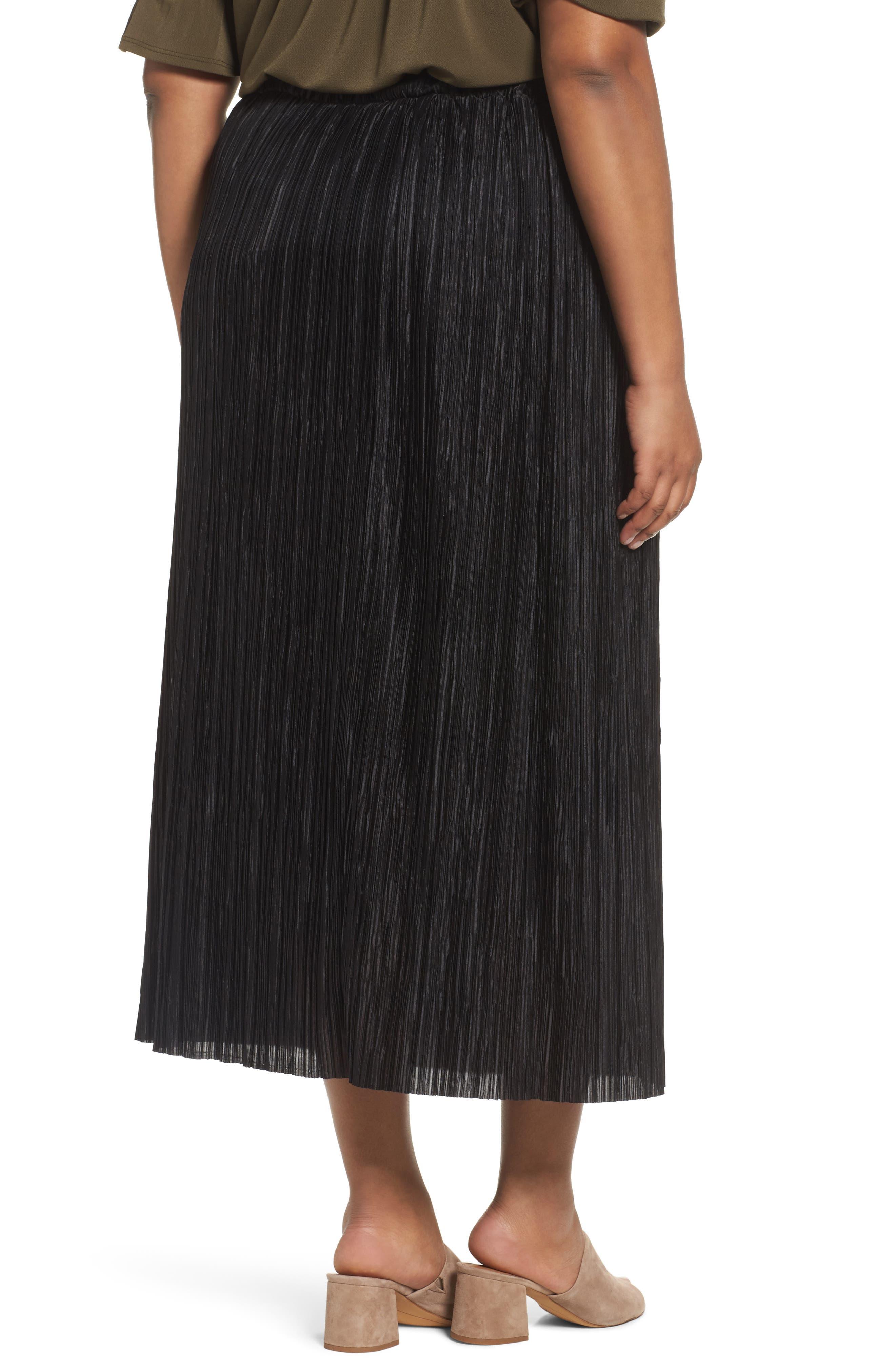 Crinkle Midi Skirt,                             Alternate thumbnail 2, color,                             001