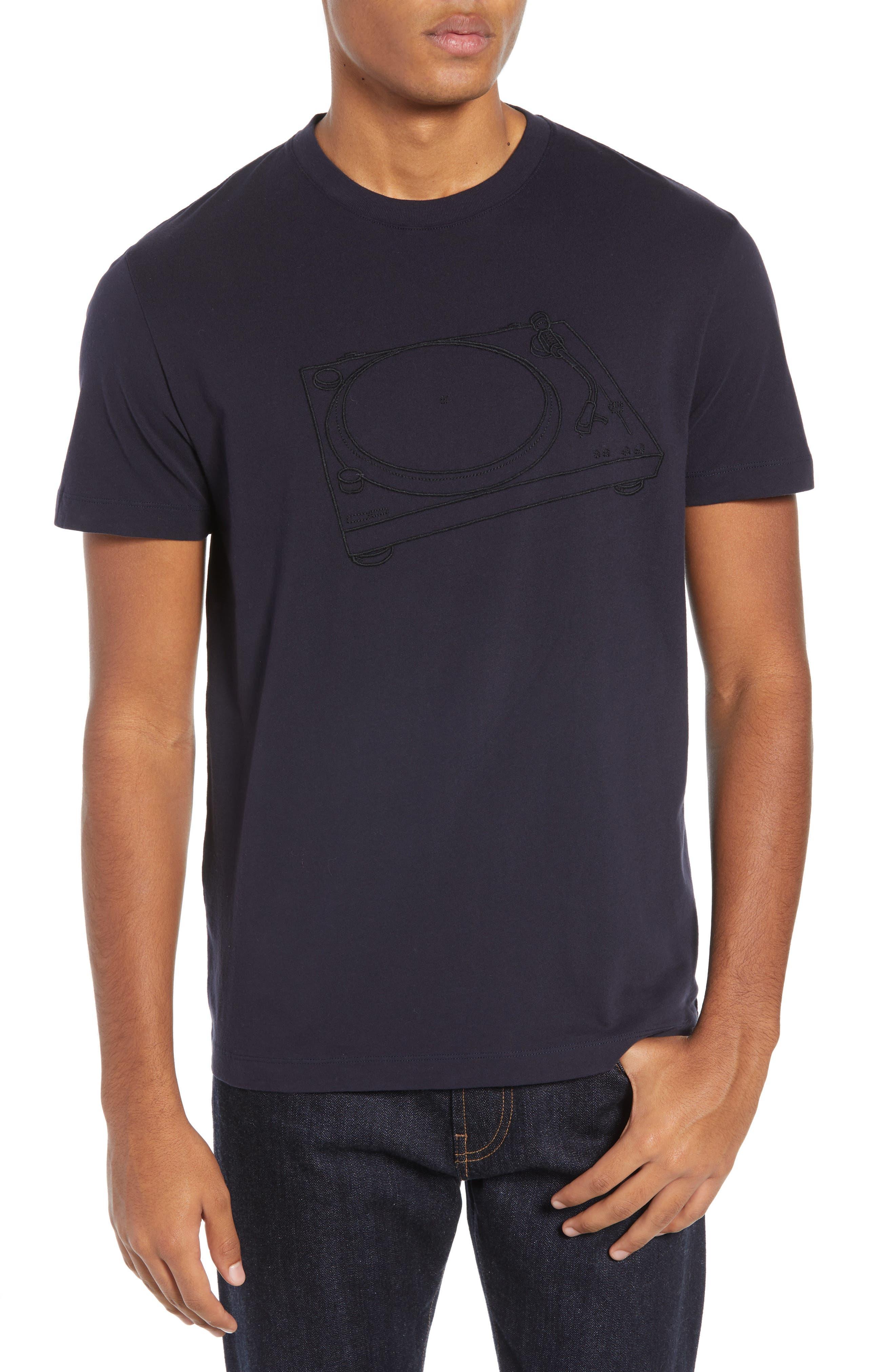 Decks Regular Fit Cotton T-Shirt,                             Main thumbnail 1, color,                             UTILITY BLUE BLACK