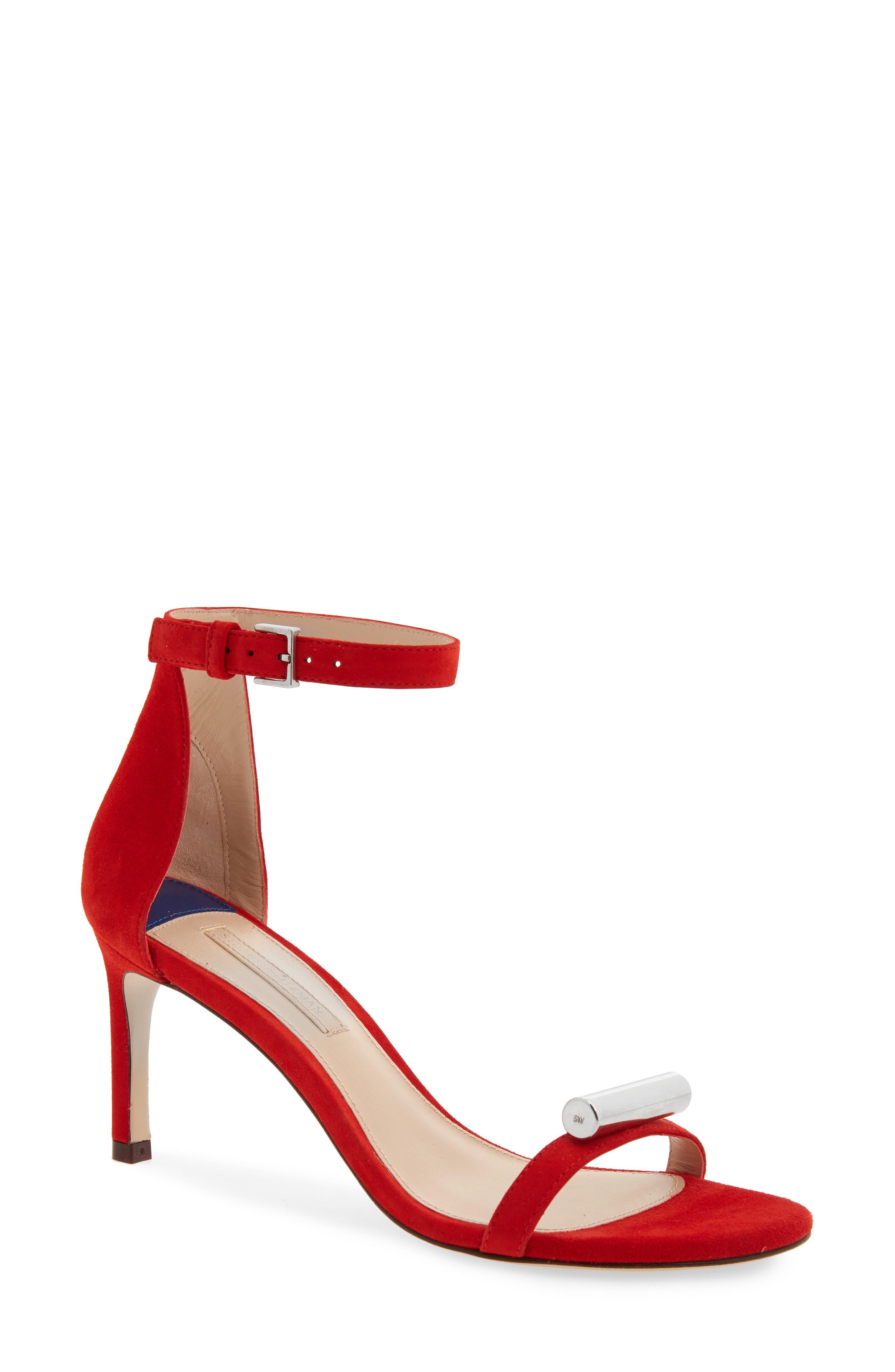 Stuart Weitzman Cylinder Sandal, Red