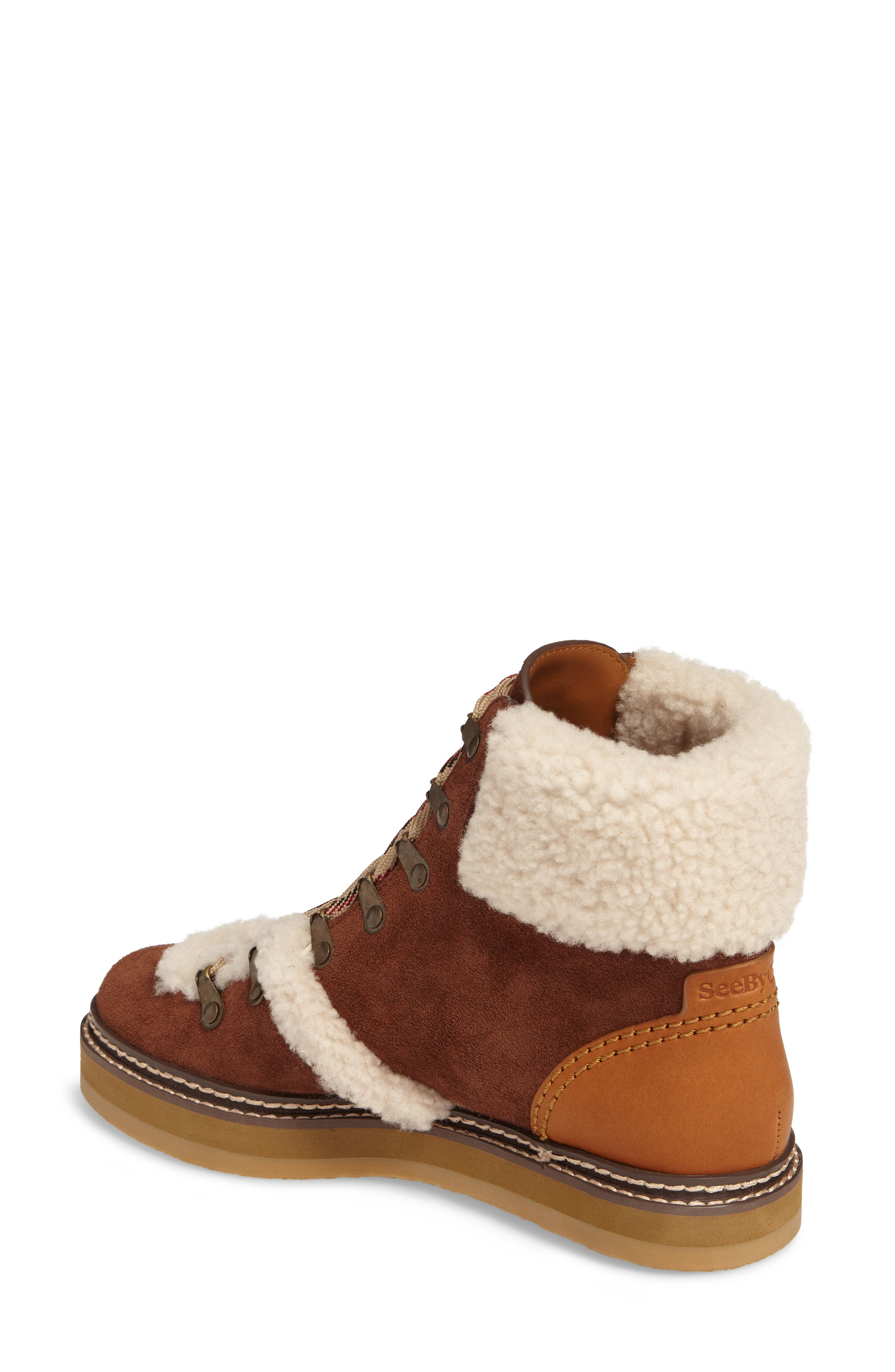 'Eileen' Genuine Shearling Boot,                             Alternate thumbnail 5, color,