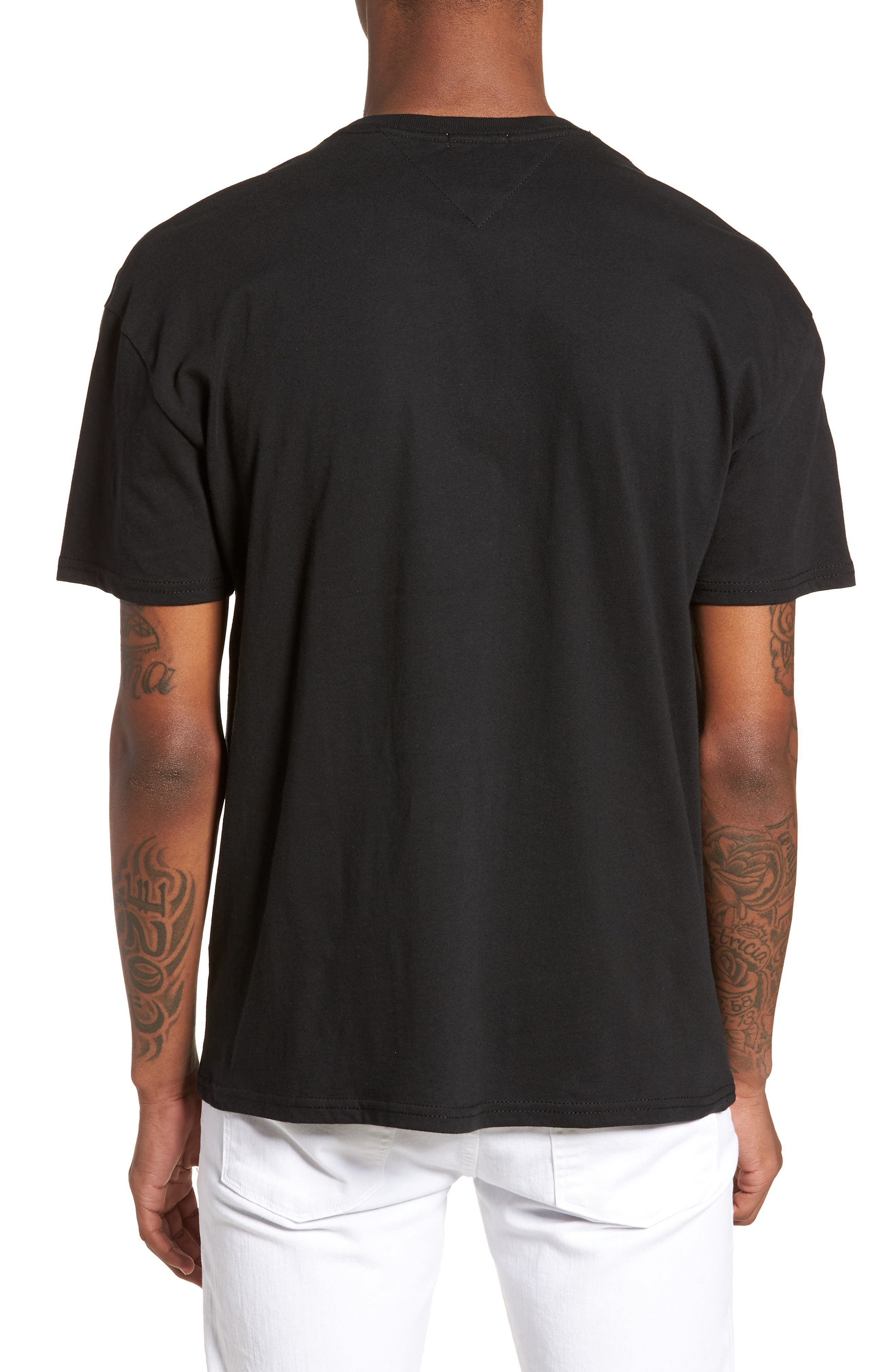 Essential Magnified Logo T-Shirt,                             Alternate thumbnail 2, color,                             001