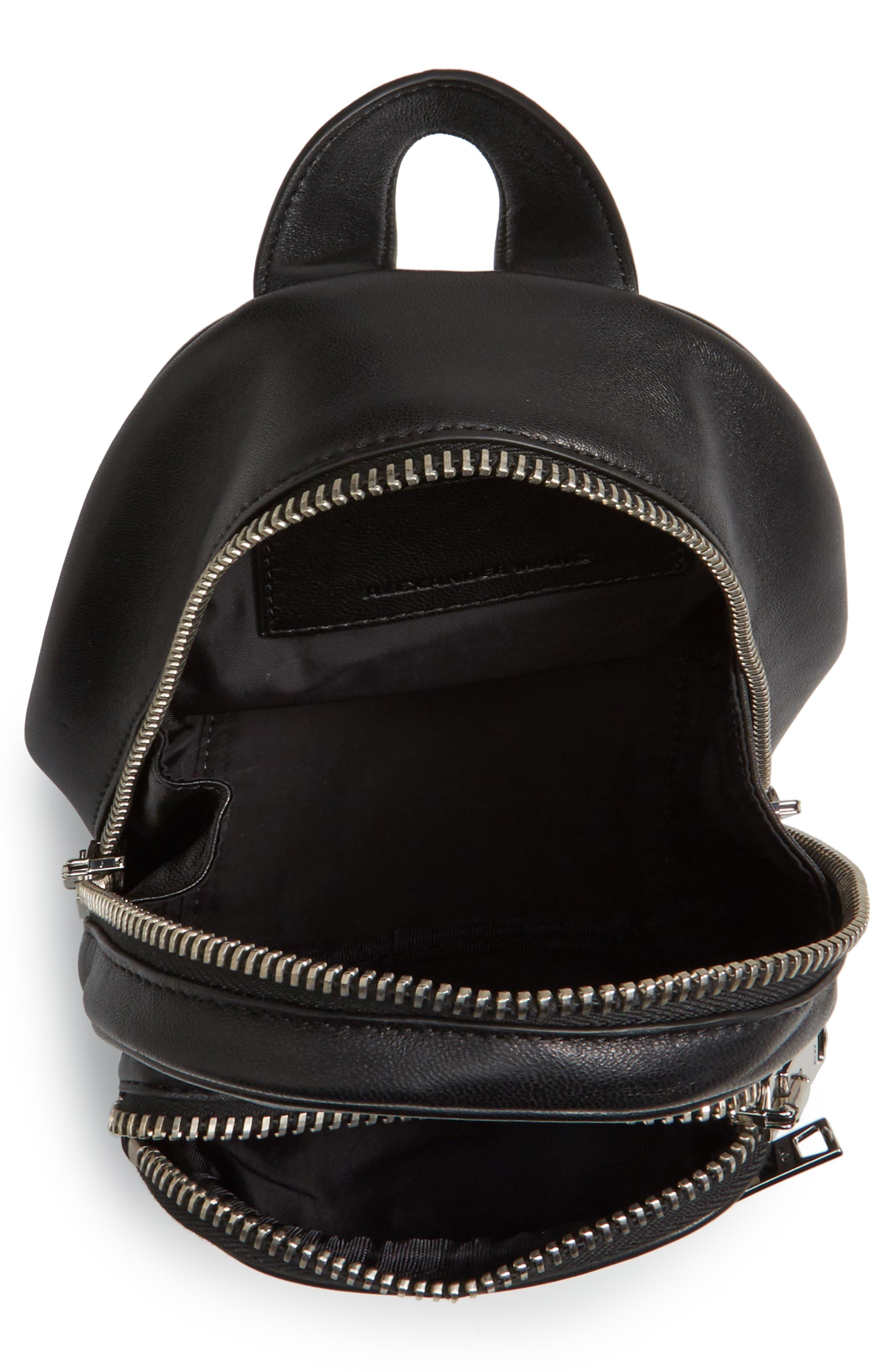 Mini Attica Leather Backpack Shaped Crossbody Bag,                             Alternate thumbnail 4, color,