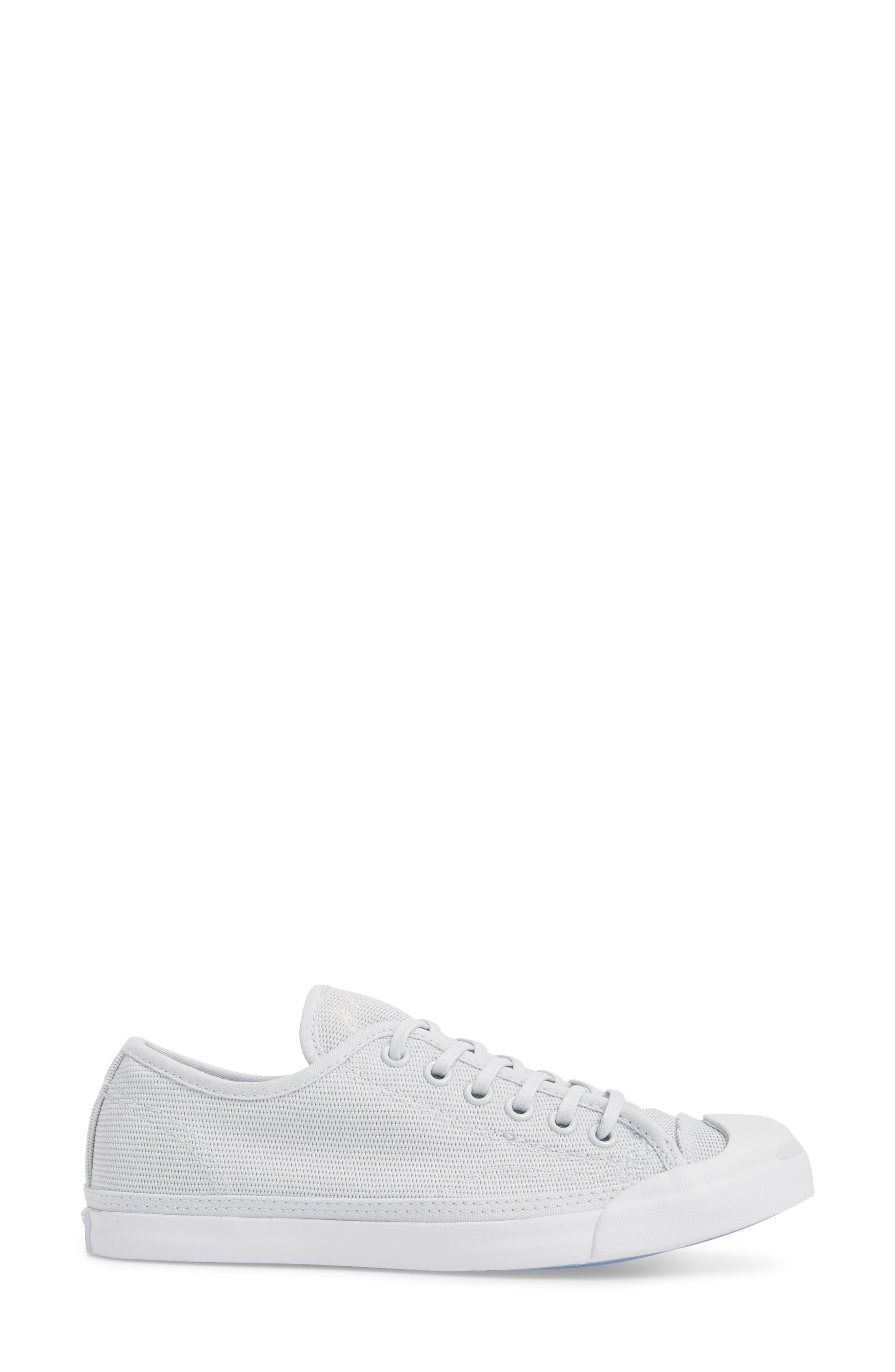 Jack Purcell Low Top Sneaker,                             Alternate thumbnail 3, color,                             PURE PLATINUM