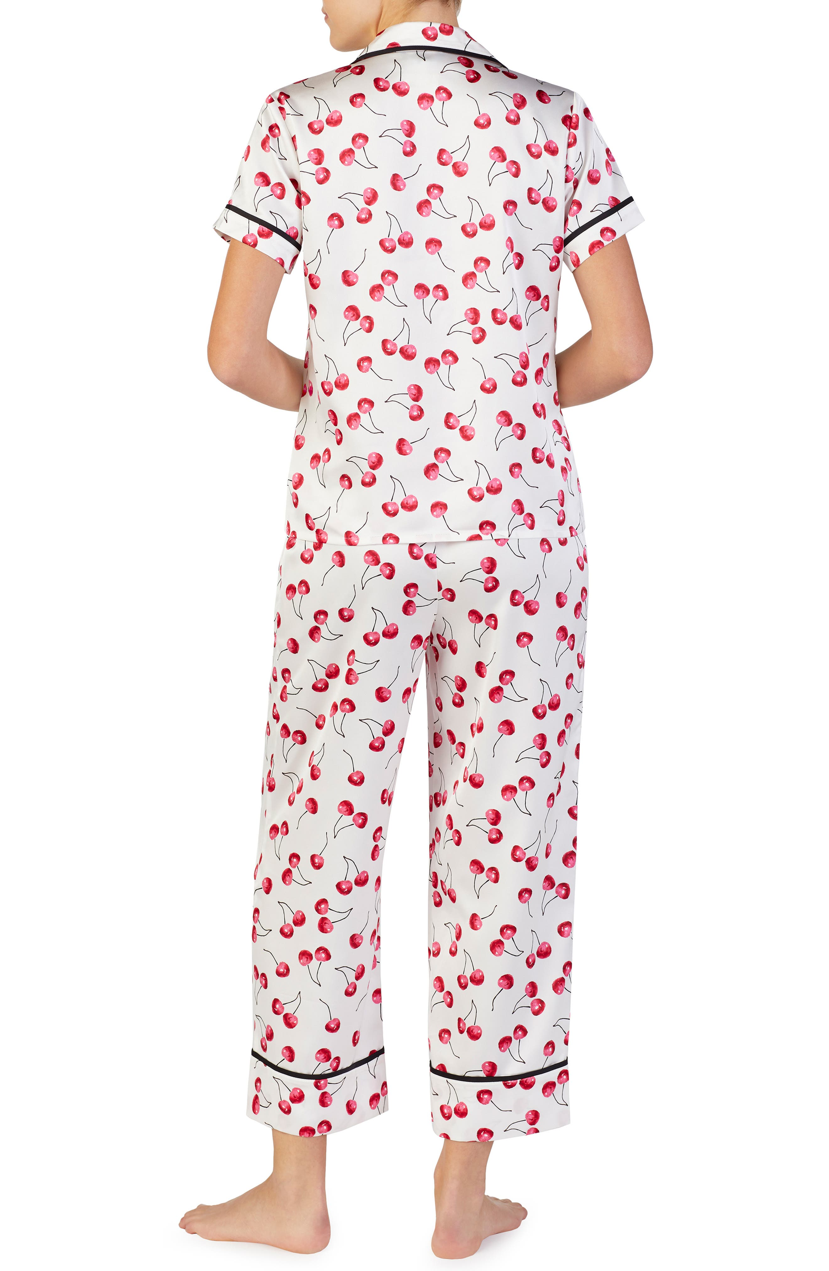 cropped pajamas,                             Alternate thumbnail 2, color,                             CHERRY TOSS