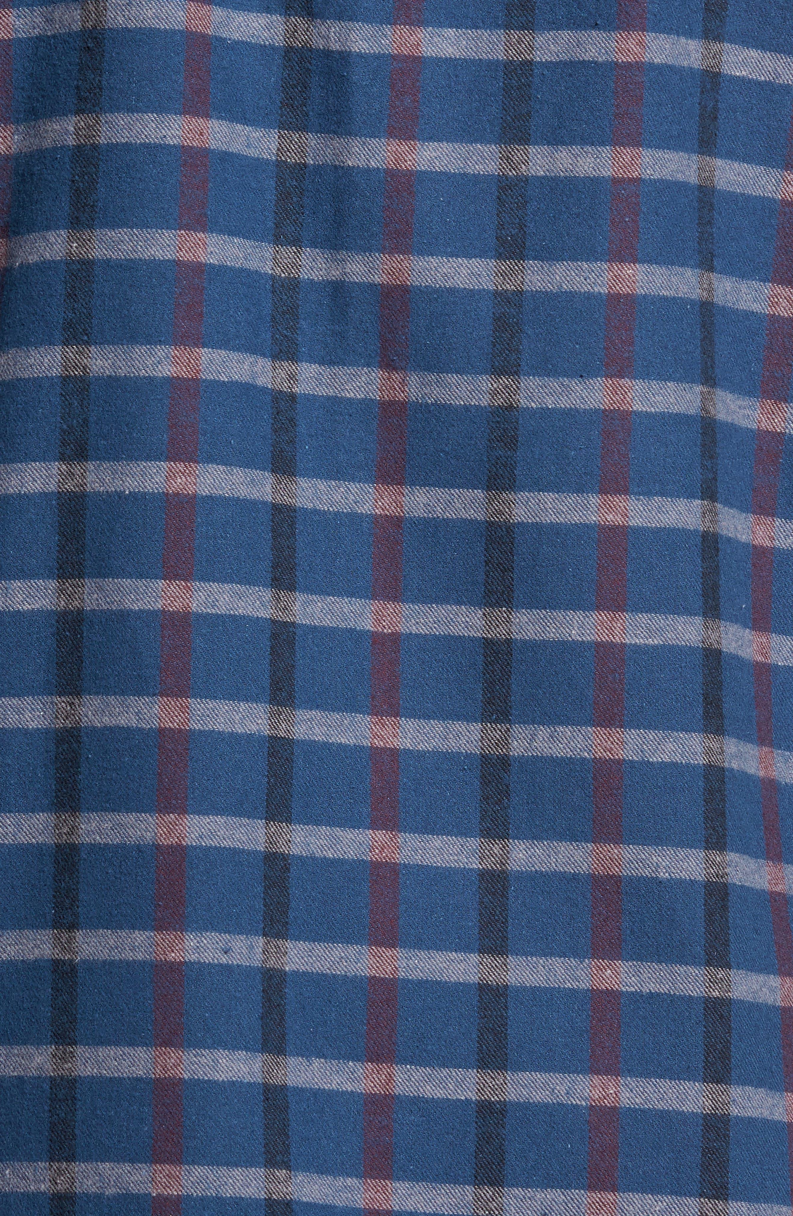 '824' Flannel Pajama Set,                             Alternate thumbnail 105, color,