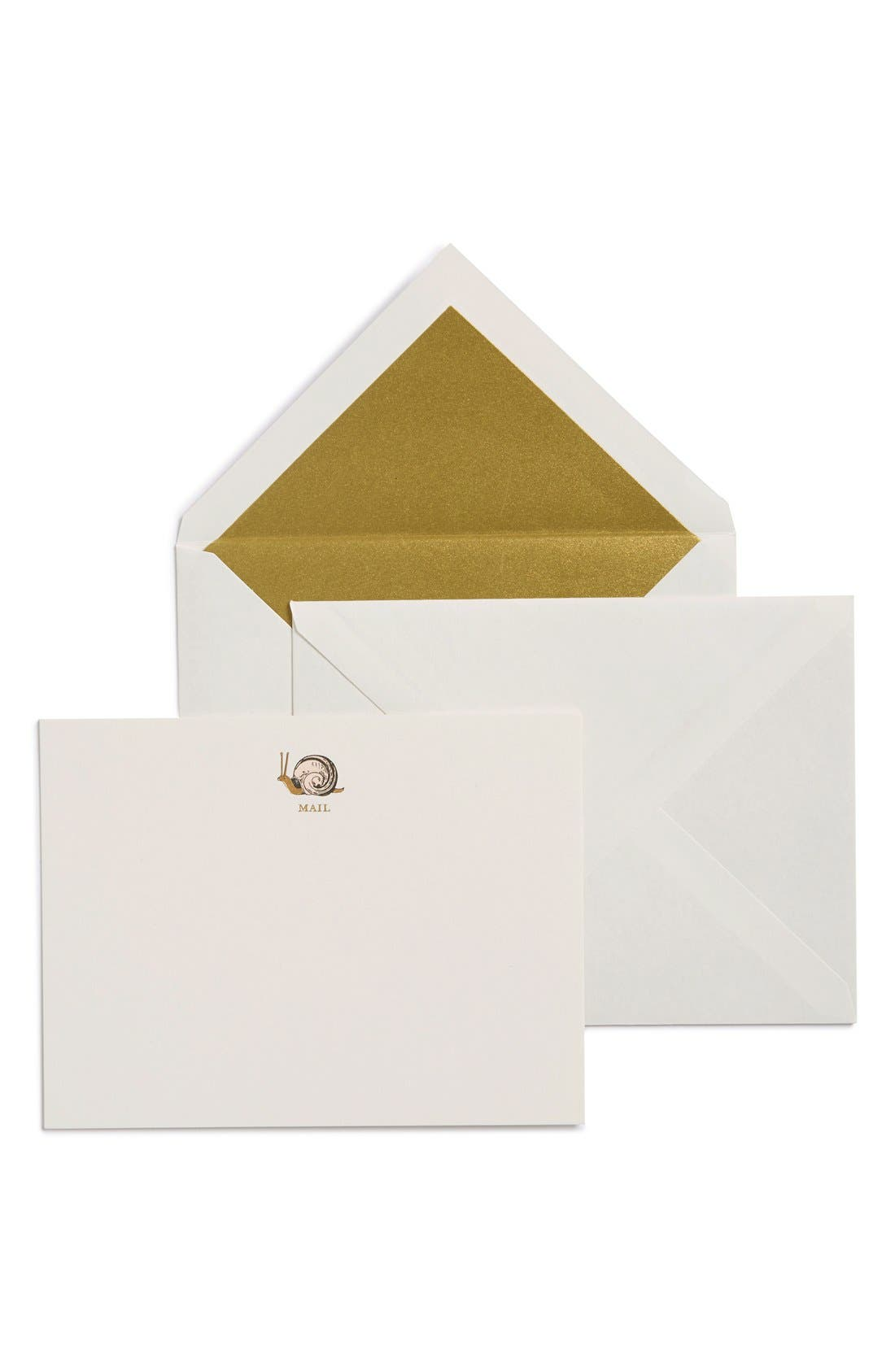 KATE SPADE NEW YORK 'snail mail' note cards, Main, color, 100