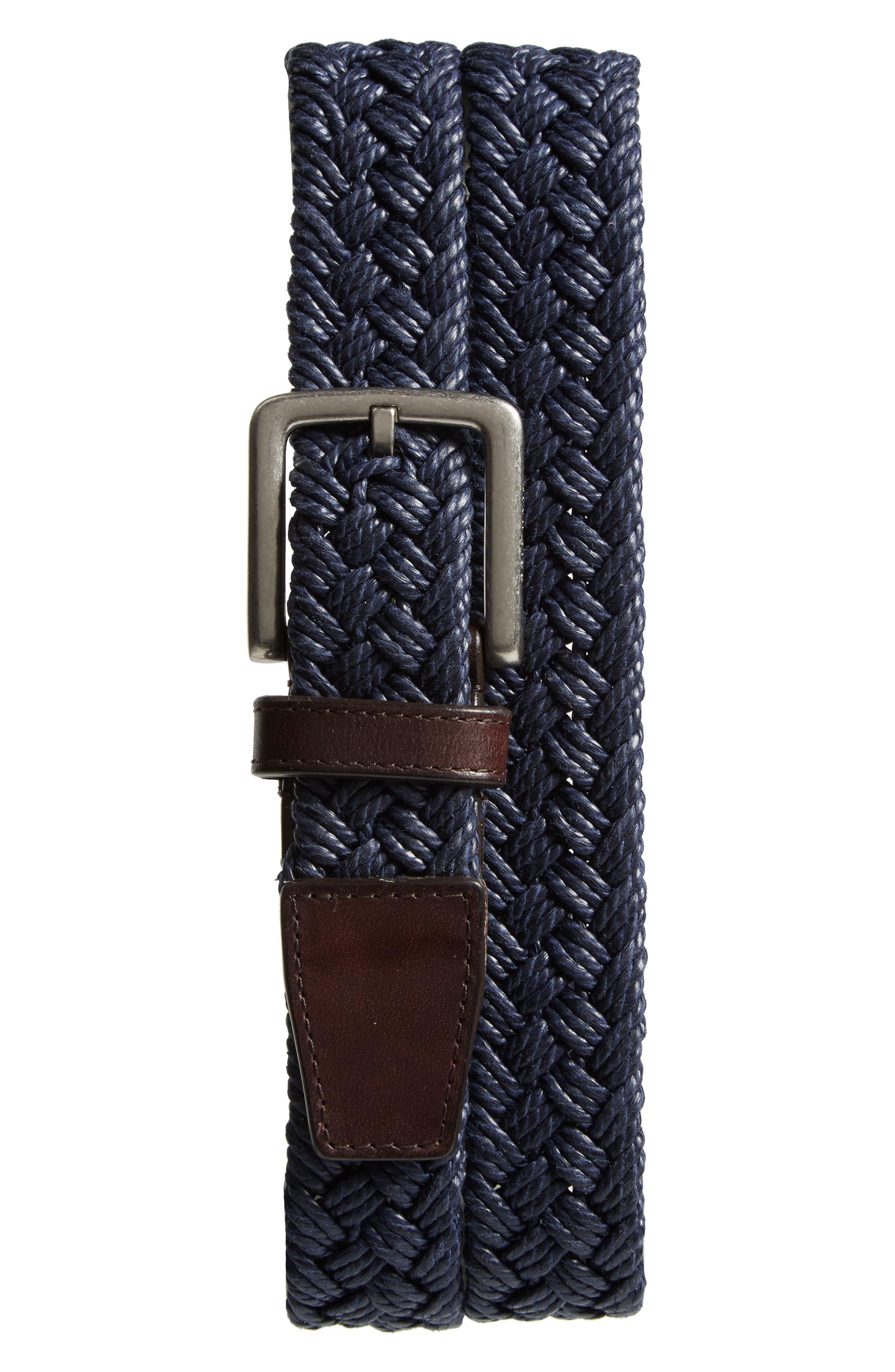 Woven Belt,                         Main,                         color, MARINE BLUE