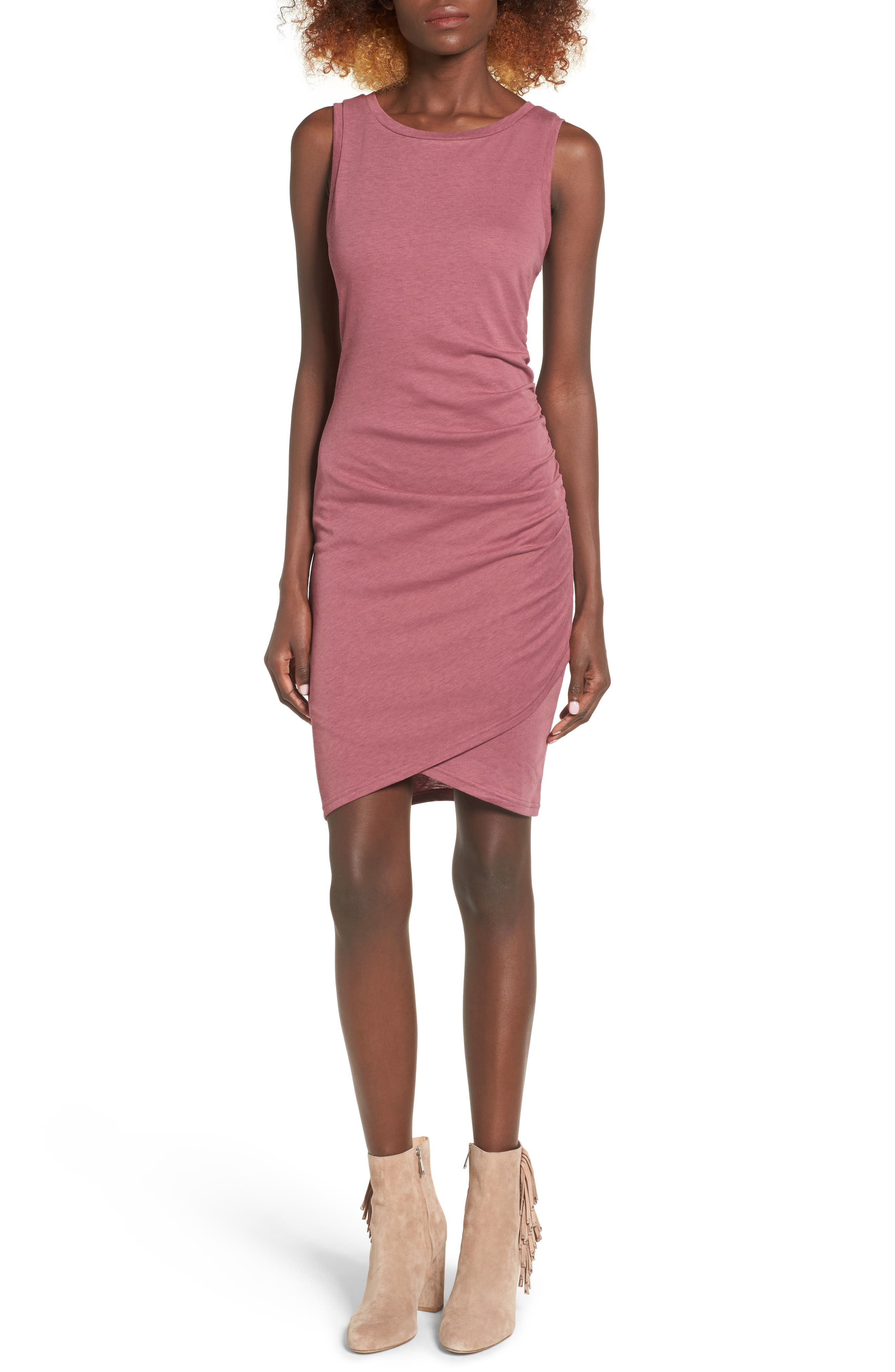 Ruched Body-Con Tank Dress,                             Alternate thumbnail 187, color,