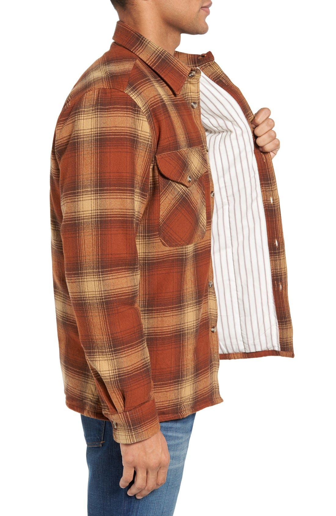 Plaid Shirt Jacket,                             Alternate thumbnail 7, color,                             200