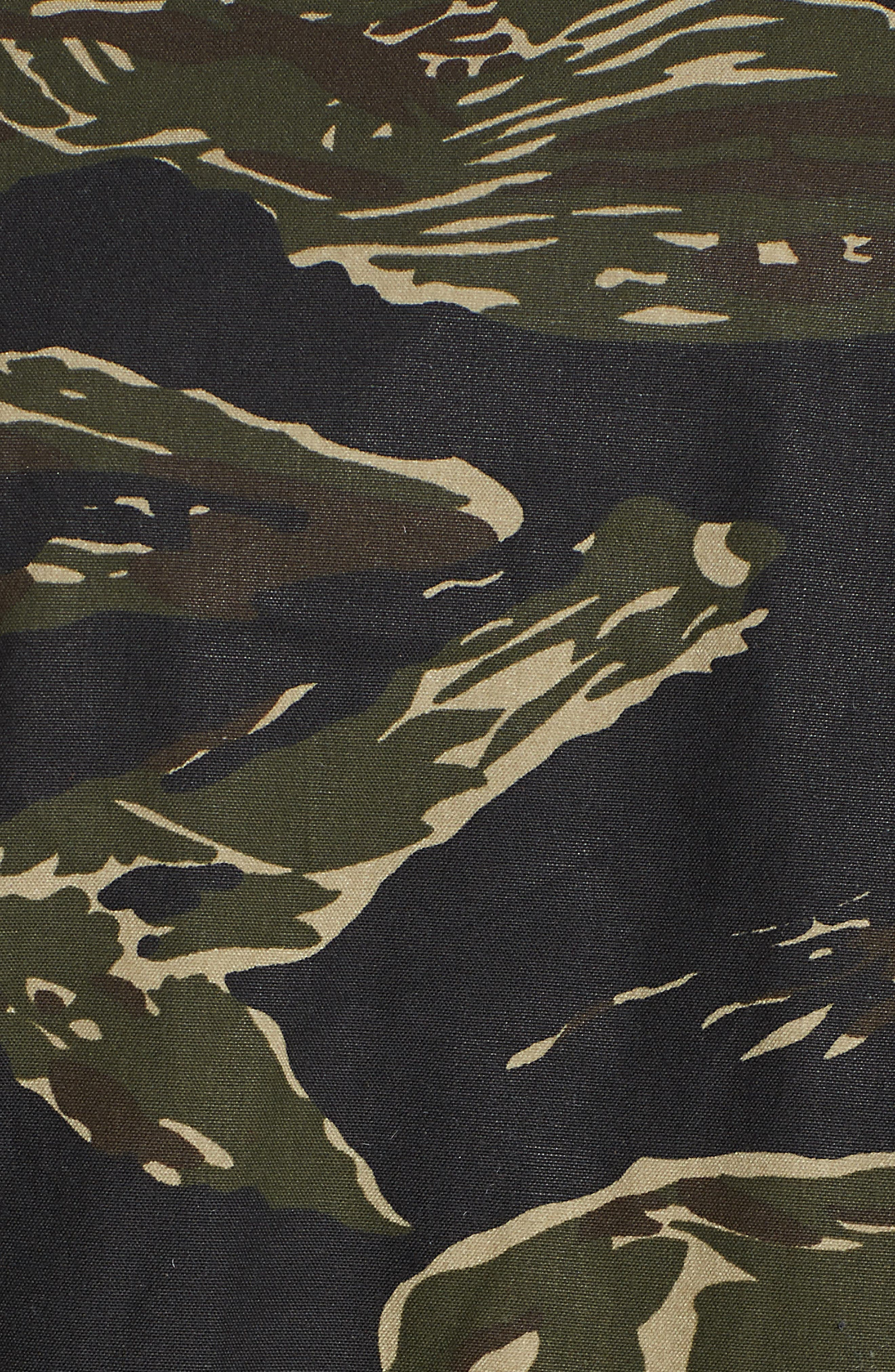 M-65 Defender Waxed Camo Field Jacket,                             Alternate thumbnail 6, color,                             TIGER CAMO
