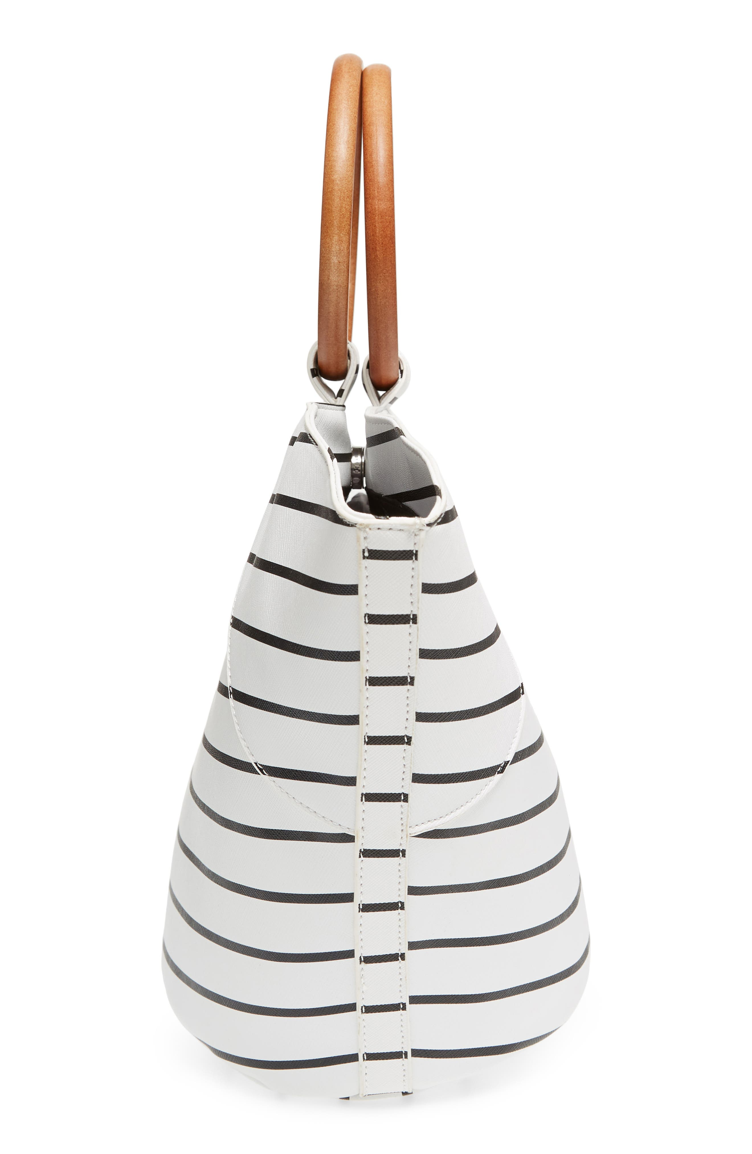Wooden Ring Stripe Tote,                             Alternate thumbnail 5, color,                             103