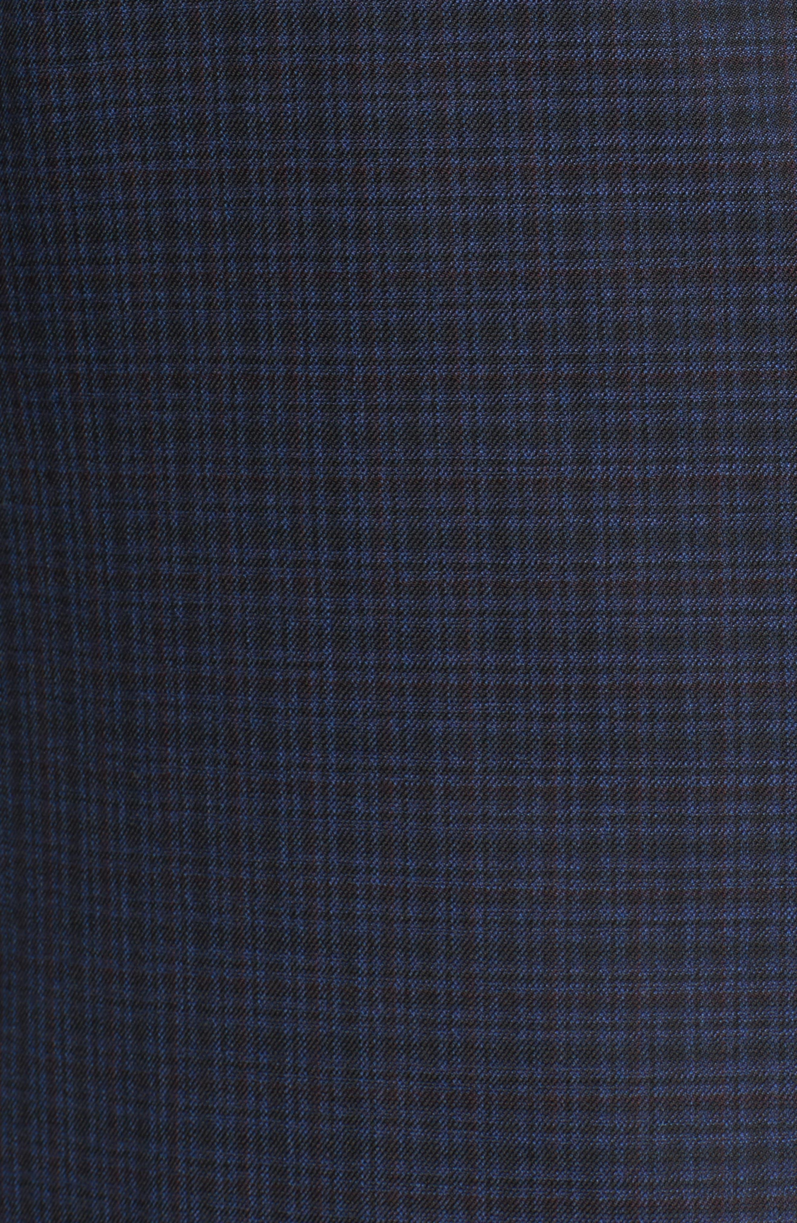 Classic B Fit Check Wool Sport Coat,                             Alternate thumbnail 5, color,                             410
